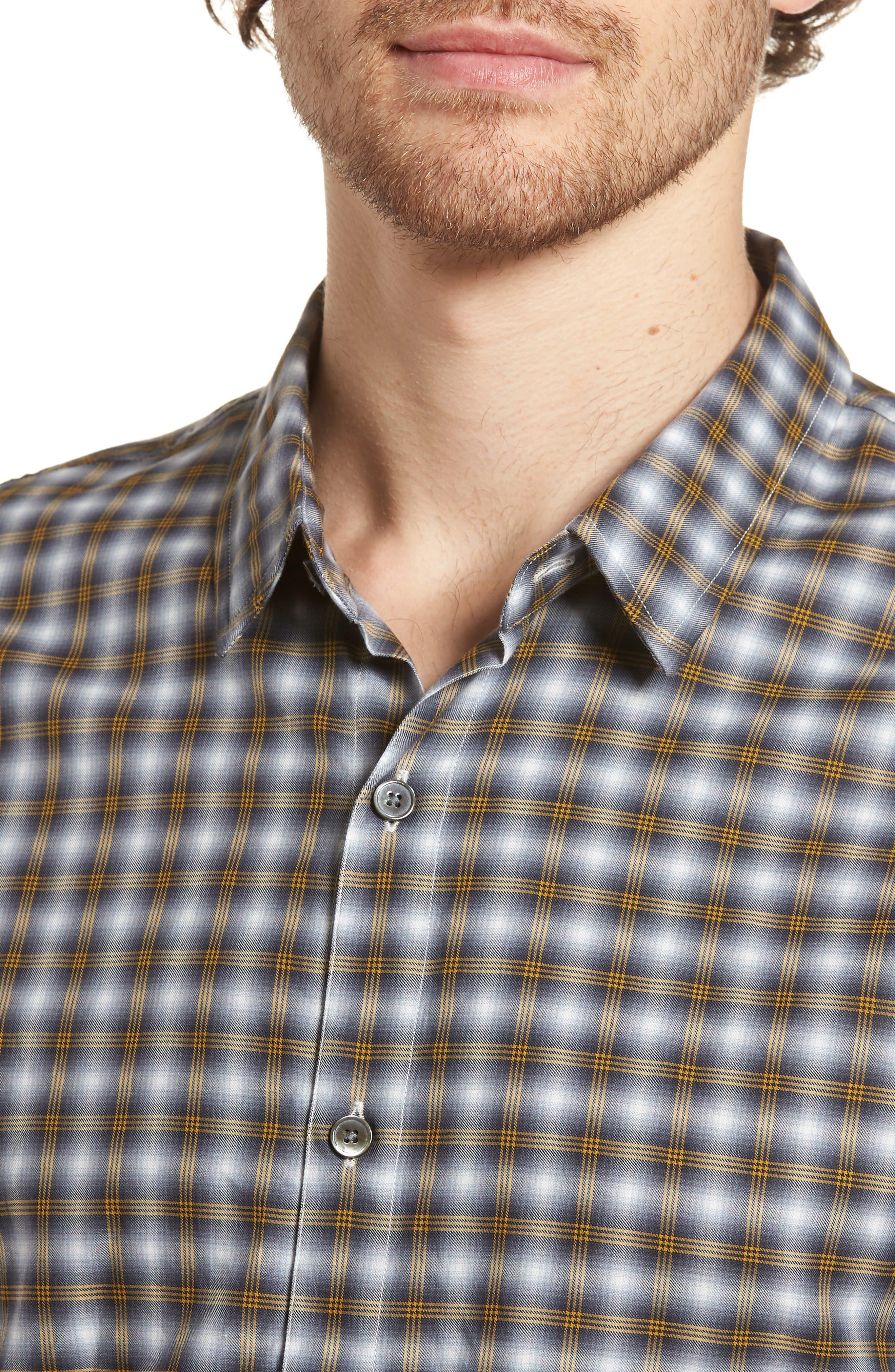 Regular Fit Plaid Sport Shirt,                             Alternate thumbnail 7, color,