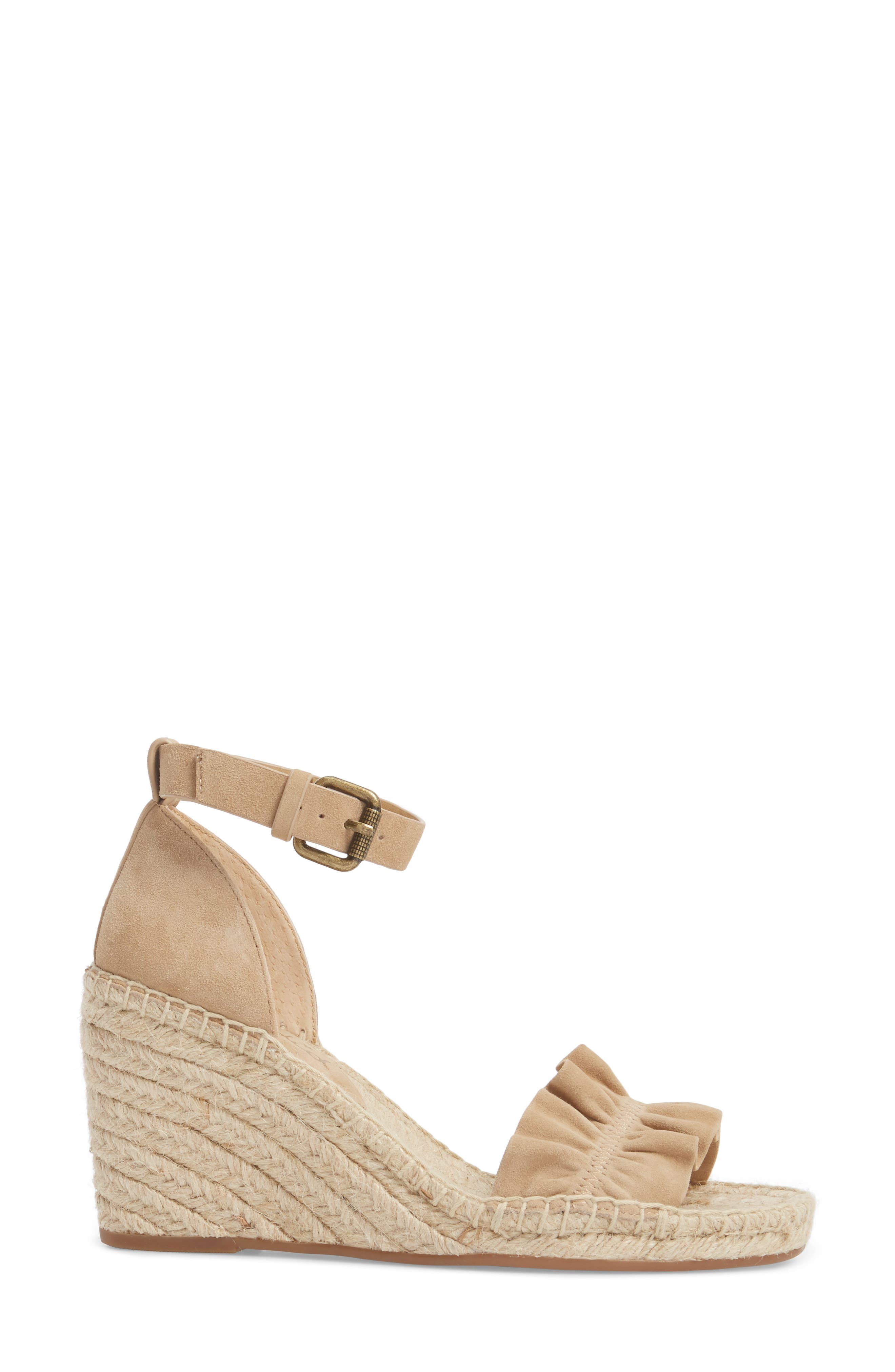 Bedford Espadrille Wedge Sandal,                             Alternate thumbnail 3, color,                             021