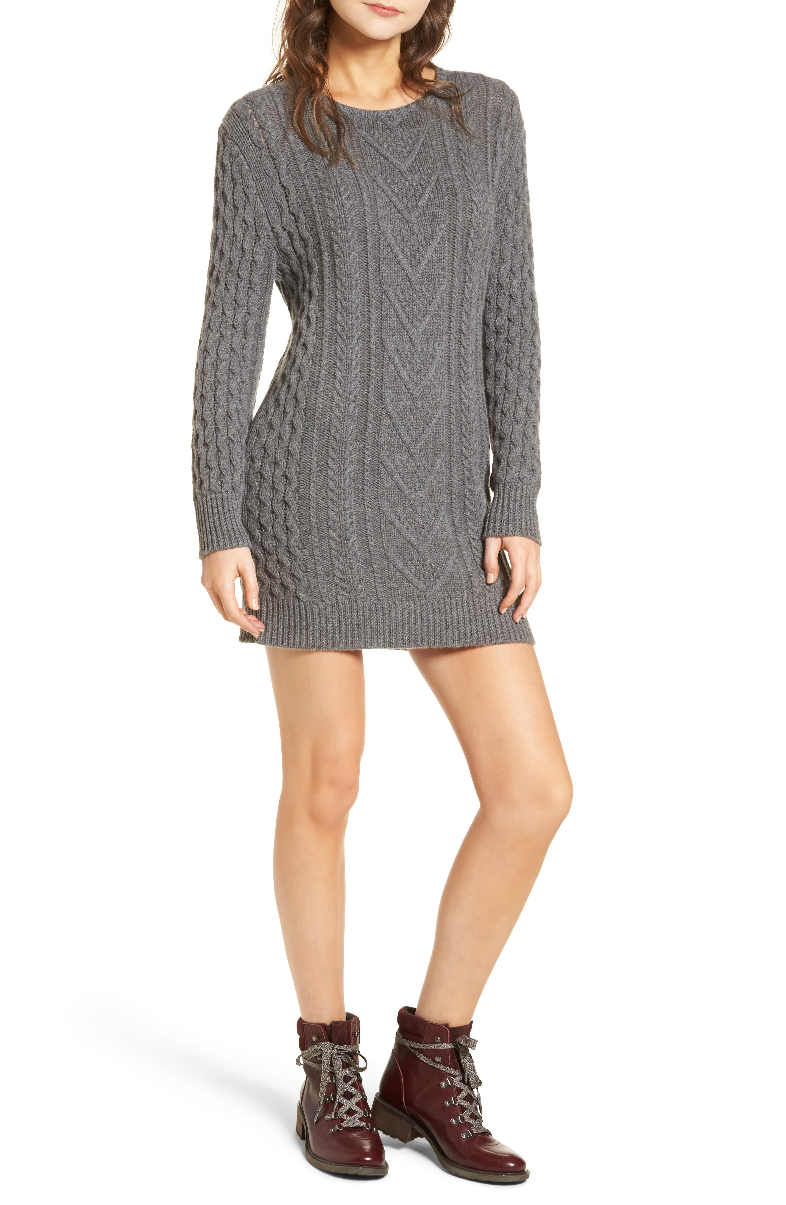 Jesse Sweater Minidress,                             Main thumbnail 1, color,                             020