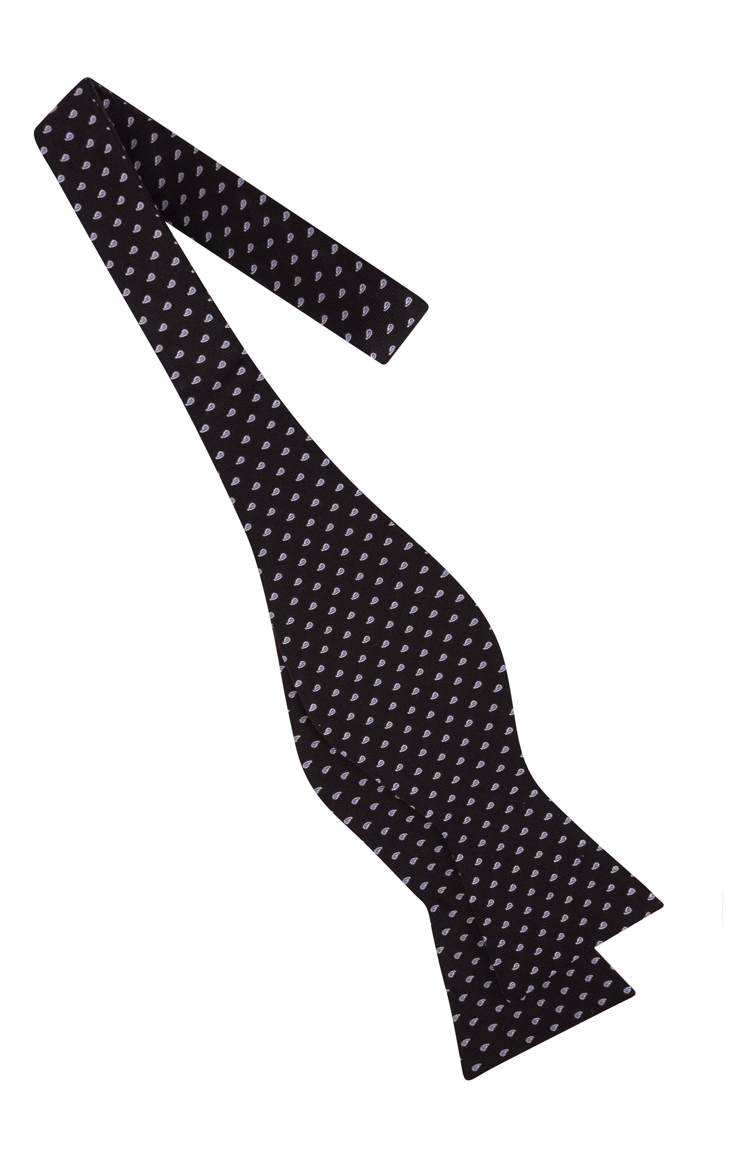 Charming Paisley Silk Bow Tie,                             Alternate thumbnail 2, color,                             001