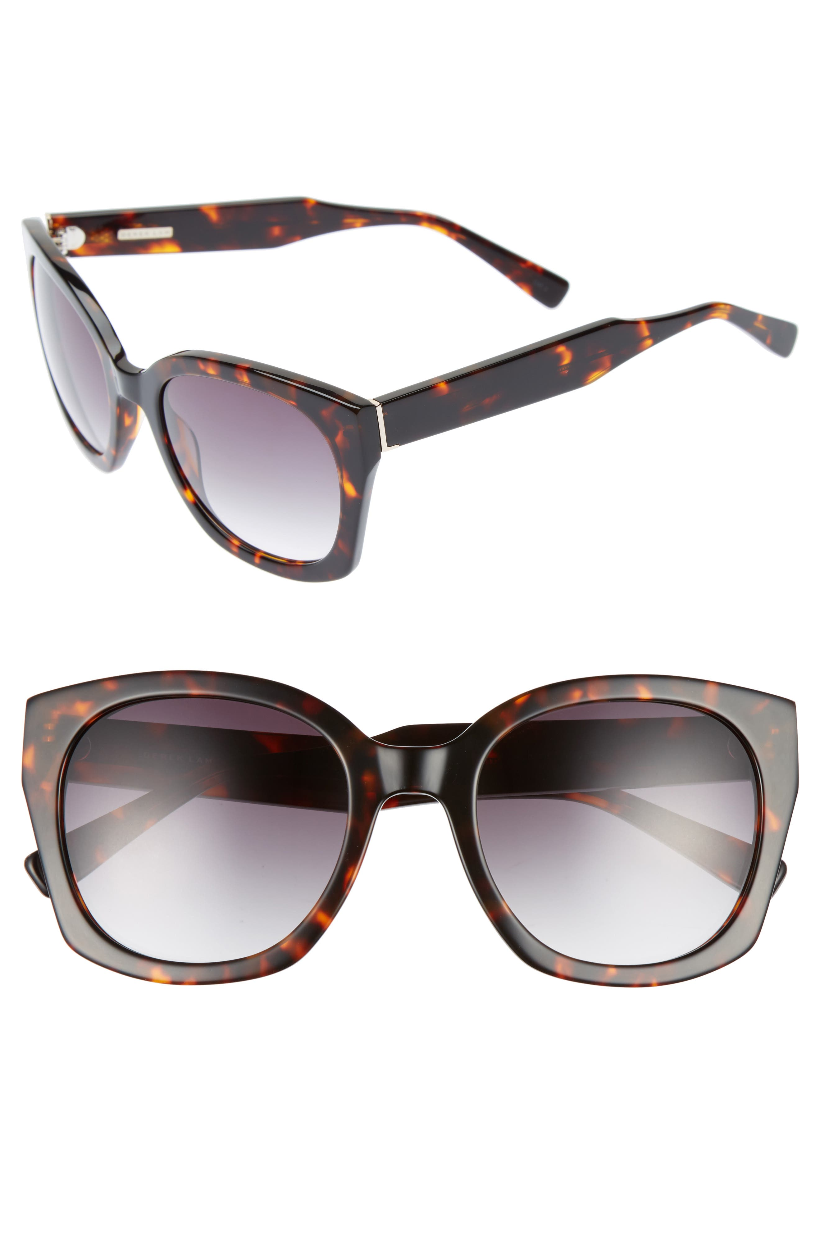 Sadie 54mm Sunglasses,                         Main,                         color, HAVANA TORTOISE
