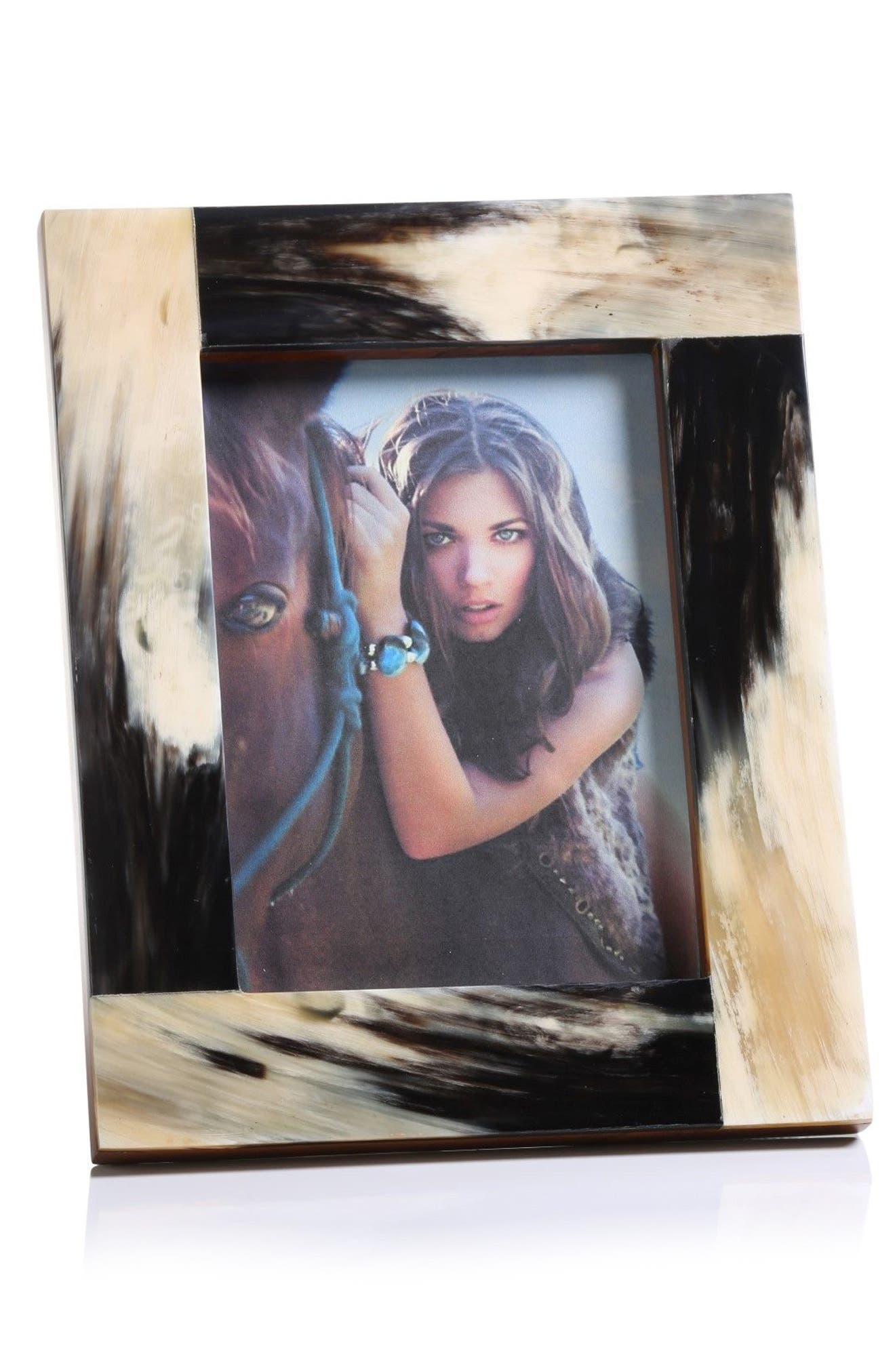 Horn Picture Frame,                             Main thumbnail 1, color,                             001