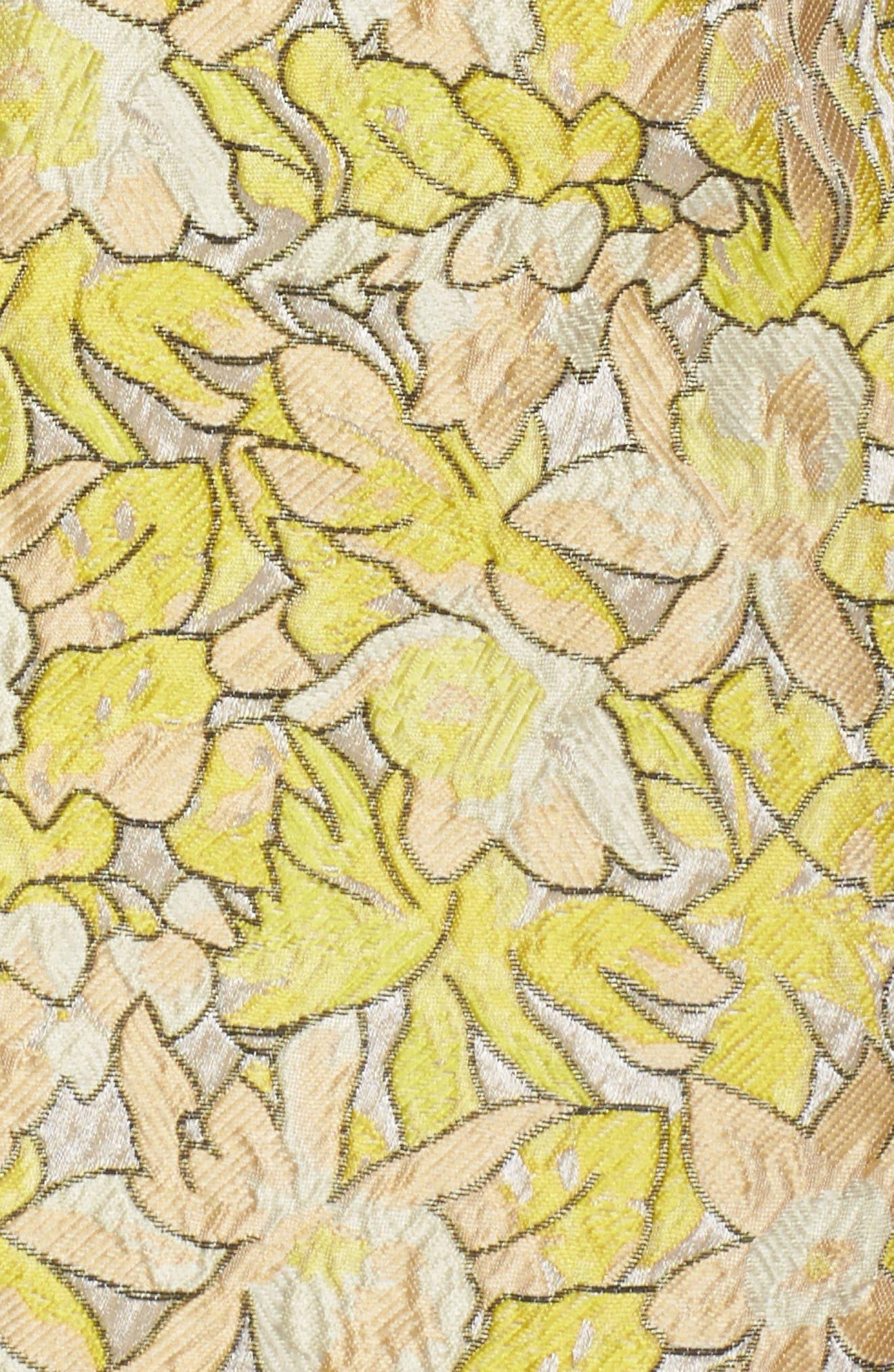 Gretta Strapless Jacquard Sheath Dress,                             Alternate thumbnail 5, color,                             730