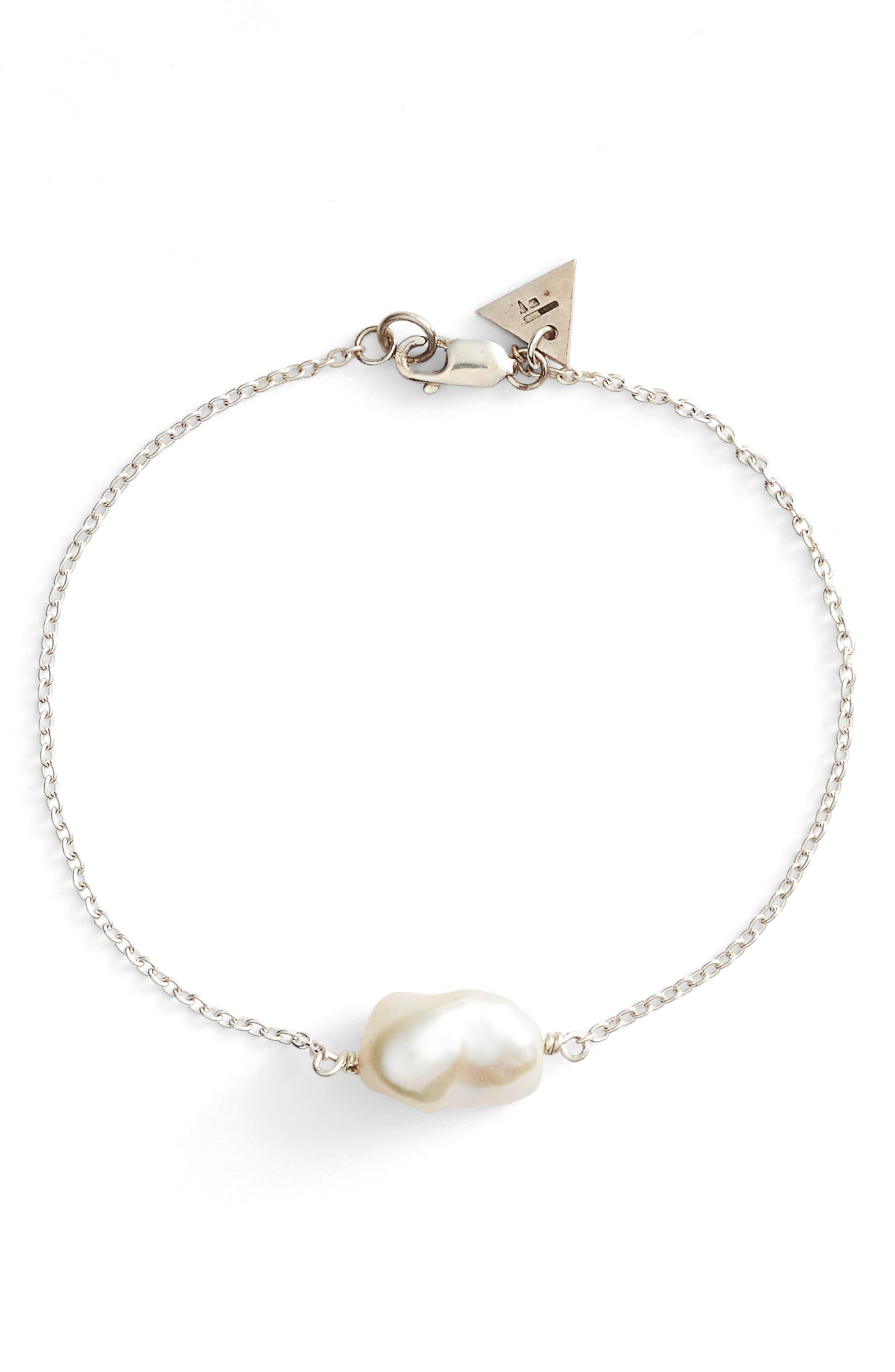 Keshi Cultured Pearl Bracelet,                             Main thumbnail 1, color,                             041