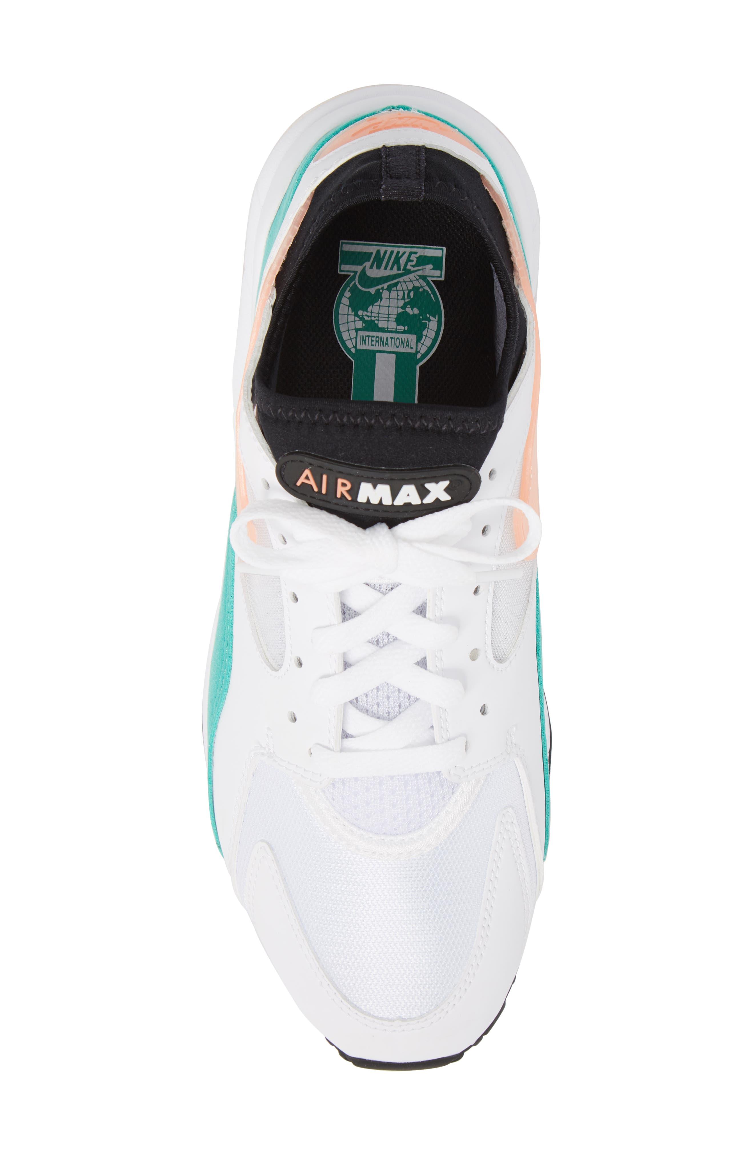 Air Max 93 Sneaker,                             Alternate thumbnail 5, color,                             WHITE/ CRIMSON BLISS