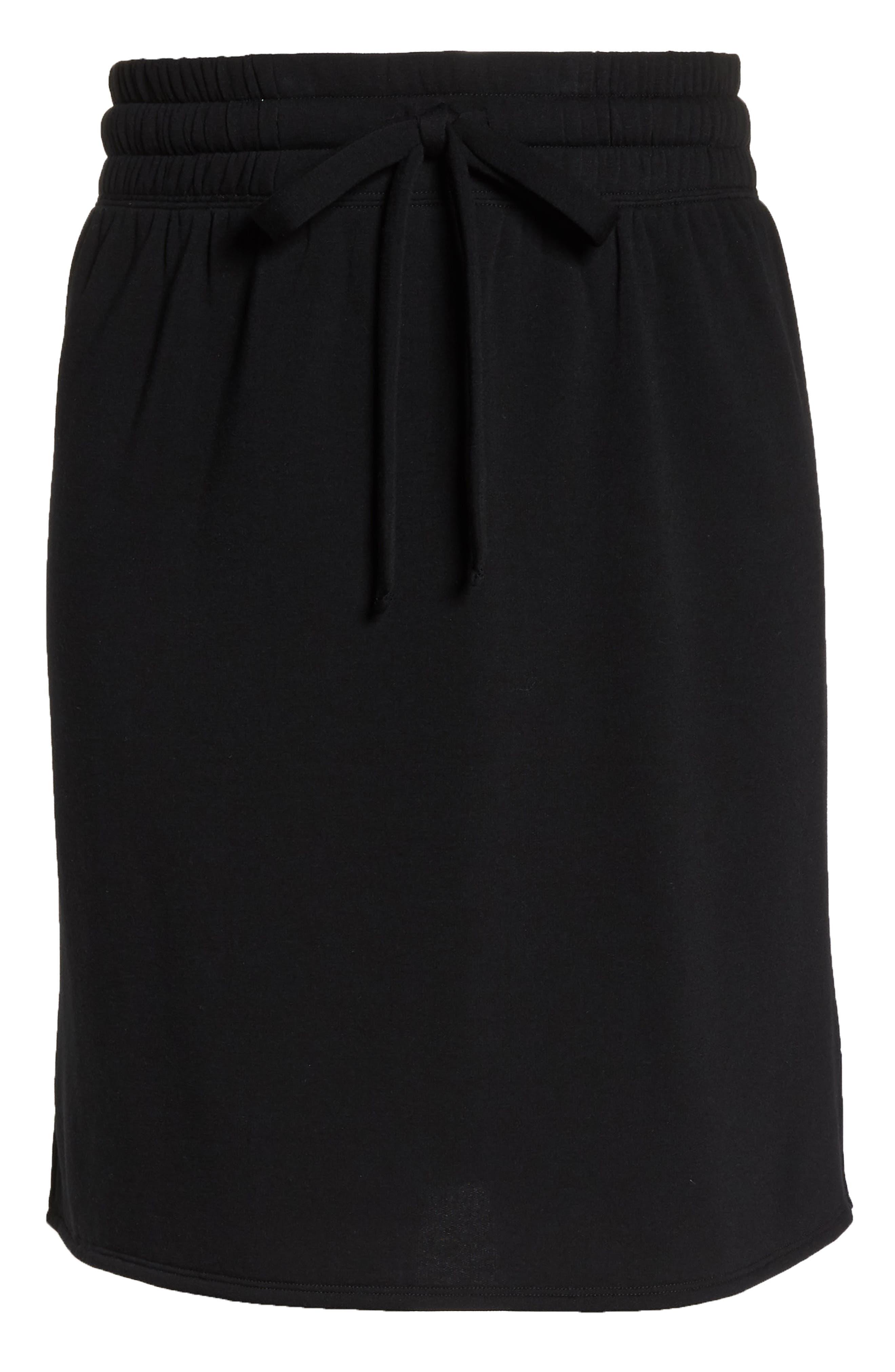 Off-Duty Tie Waist Miniskirt,                             Alternate thumbnail 6, color,                             001