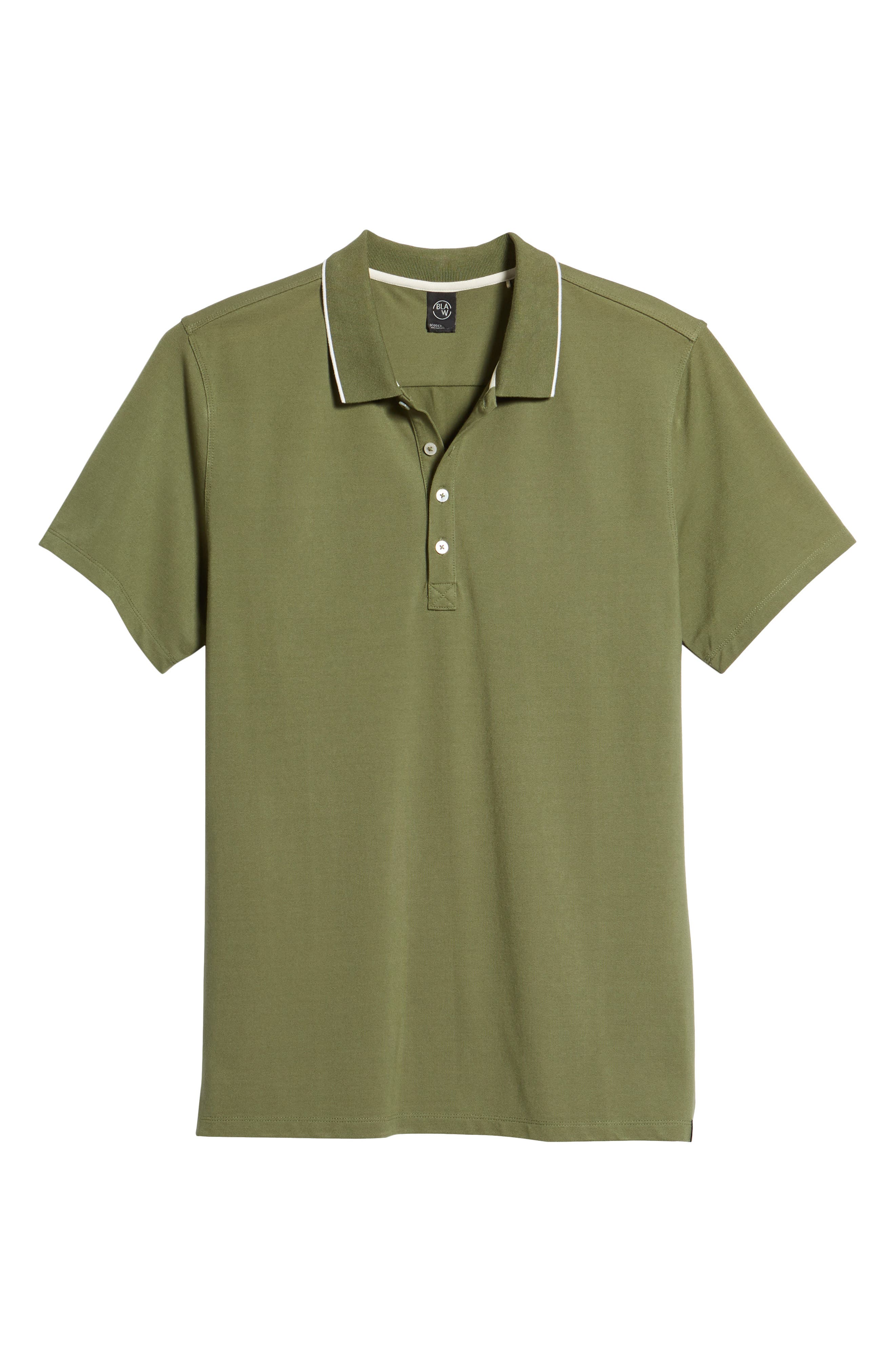 Premium Tipped Polo,                             Alternate thumbnail 6, color,                             310