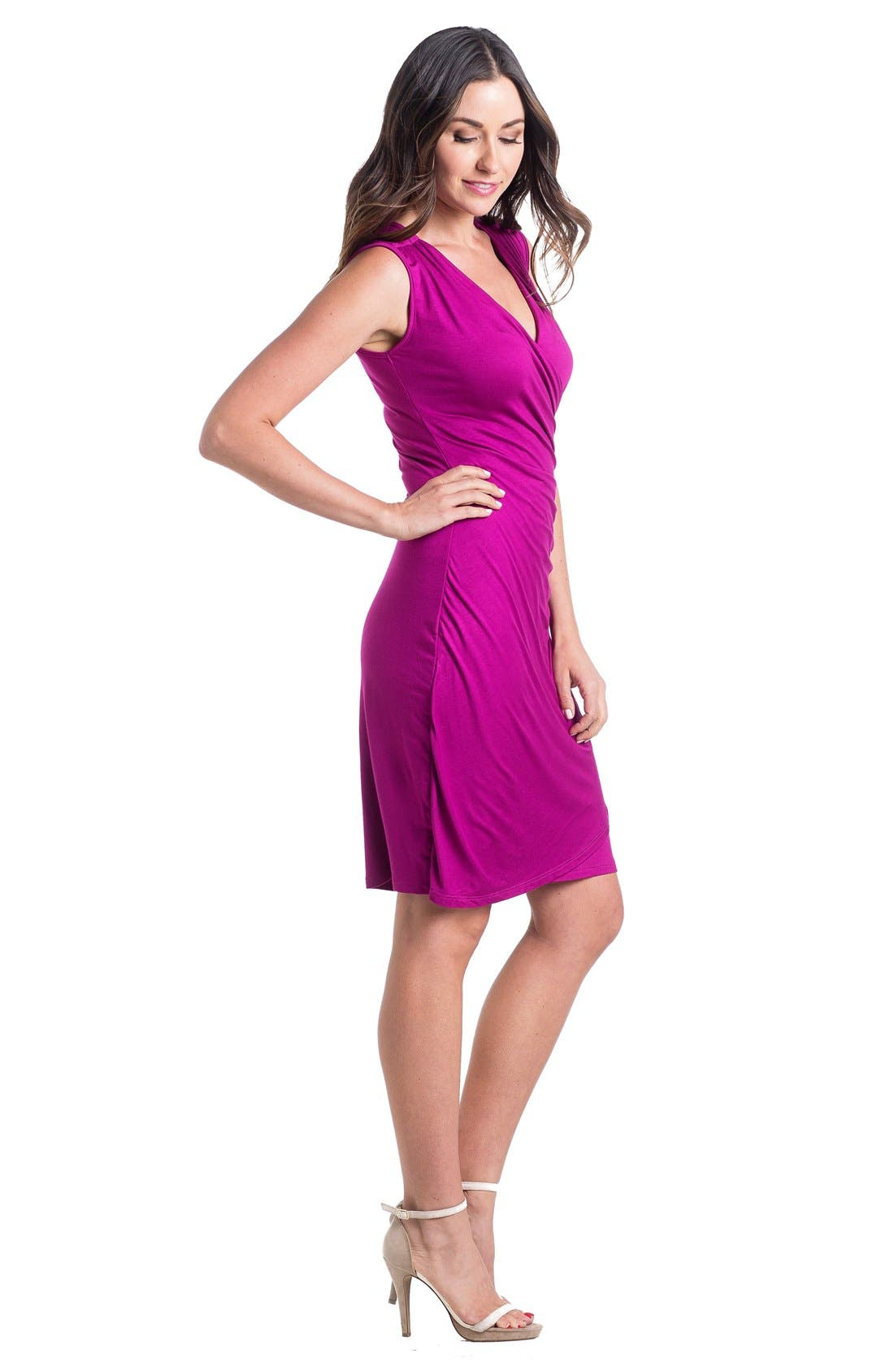 'Brynley' Surplice Maternity Dress,                             Alternate thumbnail 15, color,