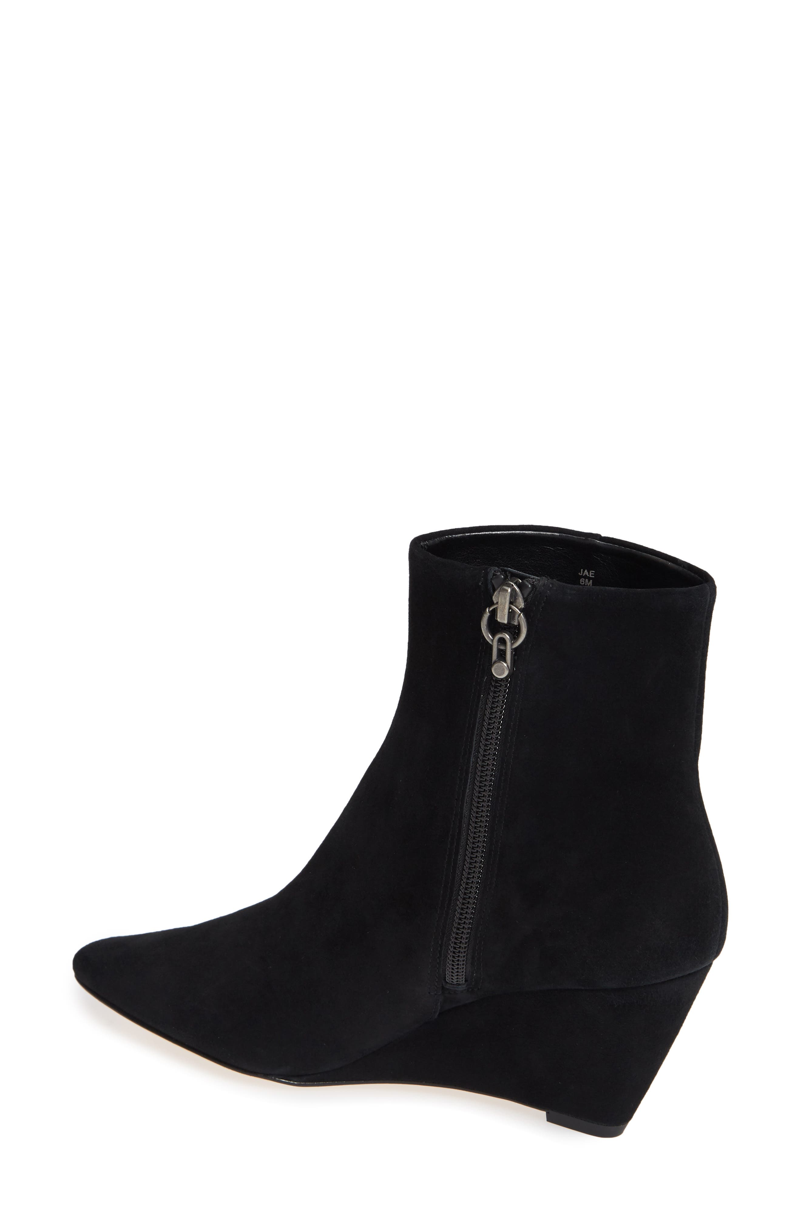 Jae Wedge Bootie,                             Alternate thumbnail 2, color,                             BLACK