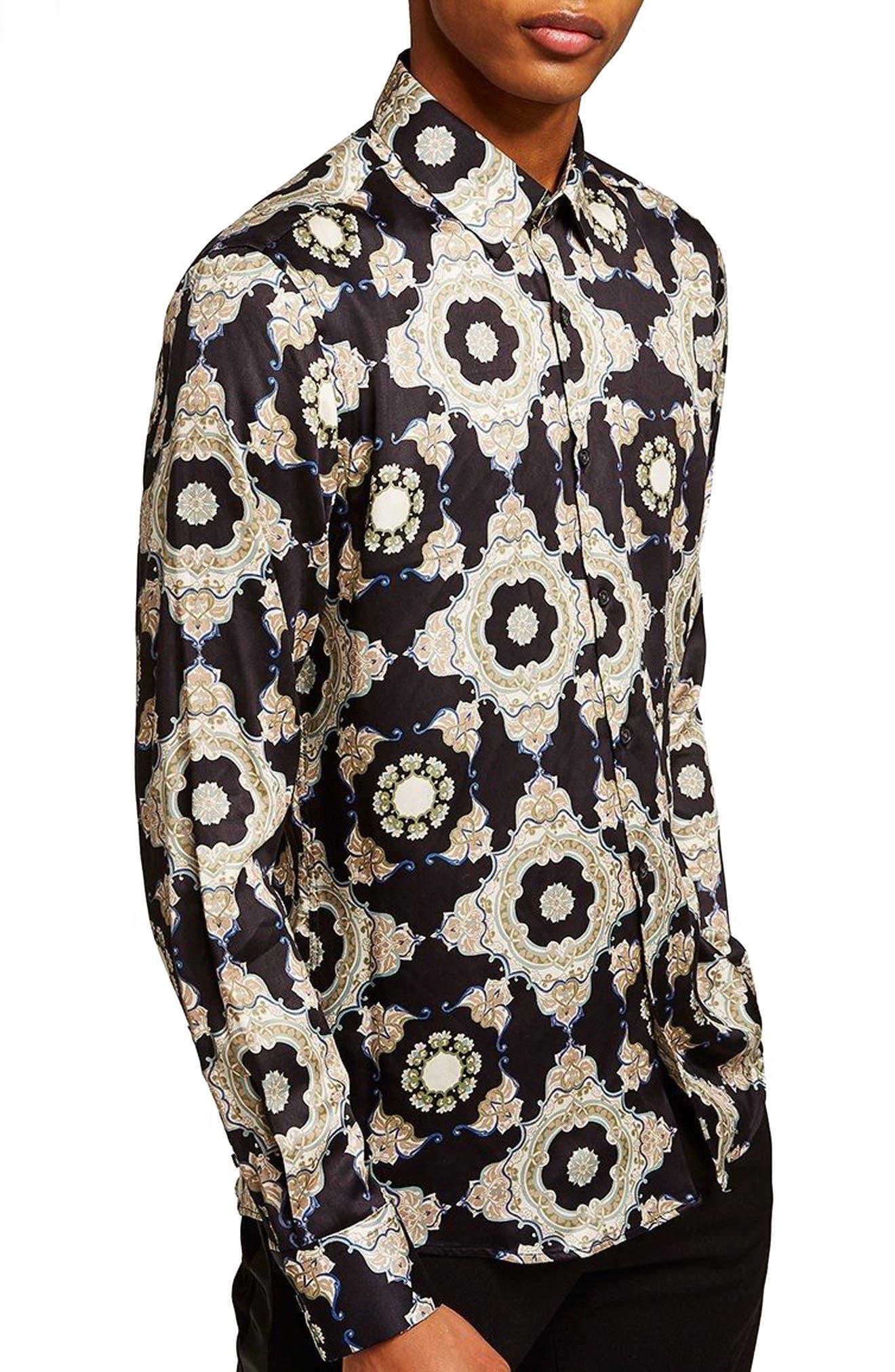 Slim Fit Print Shirt,                         Main,                         color, 001