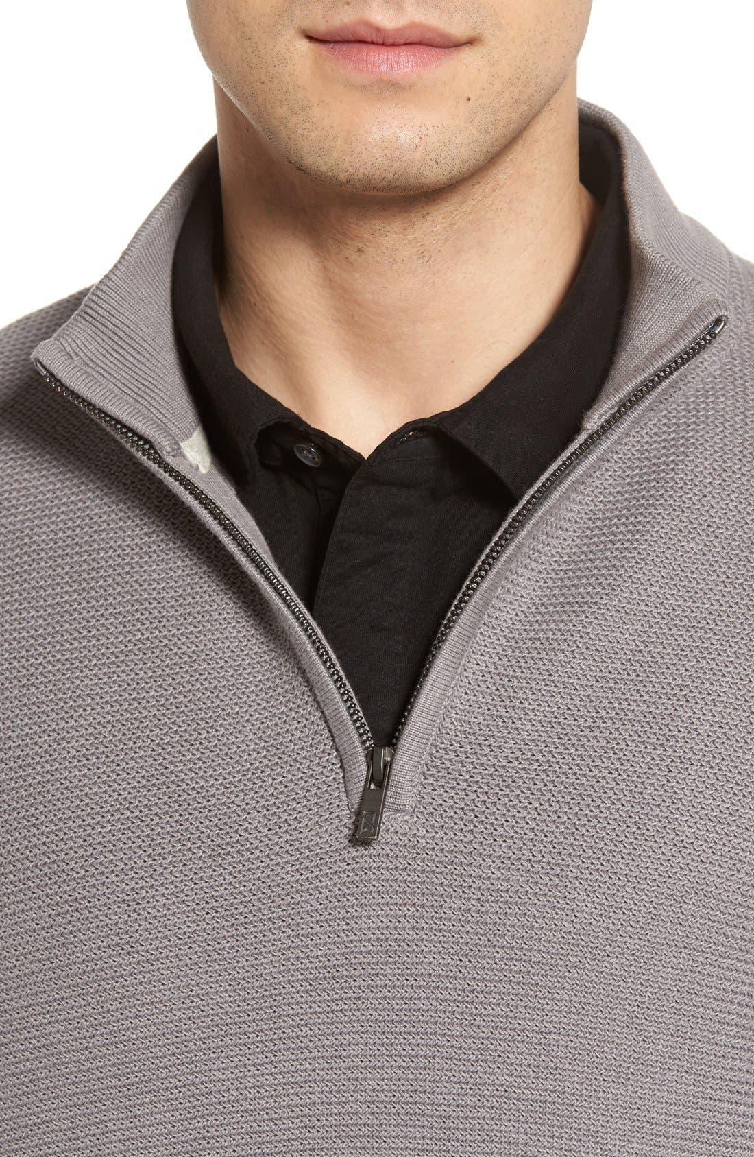 'Benson' Quarter Zip Textured Knit Sweater,                             Alternate thumbnail 11, color,