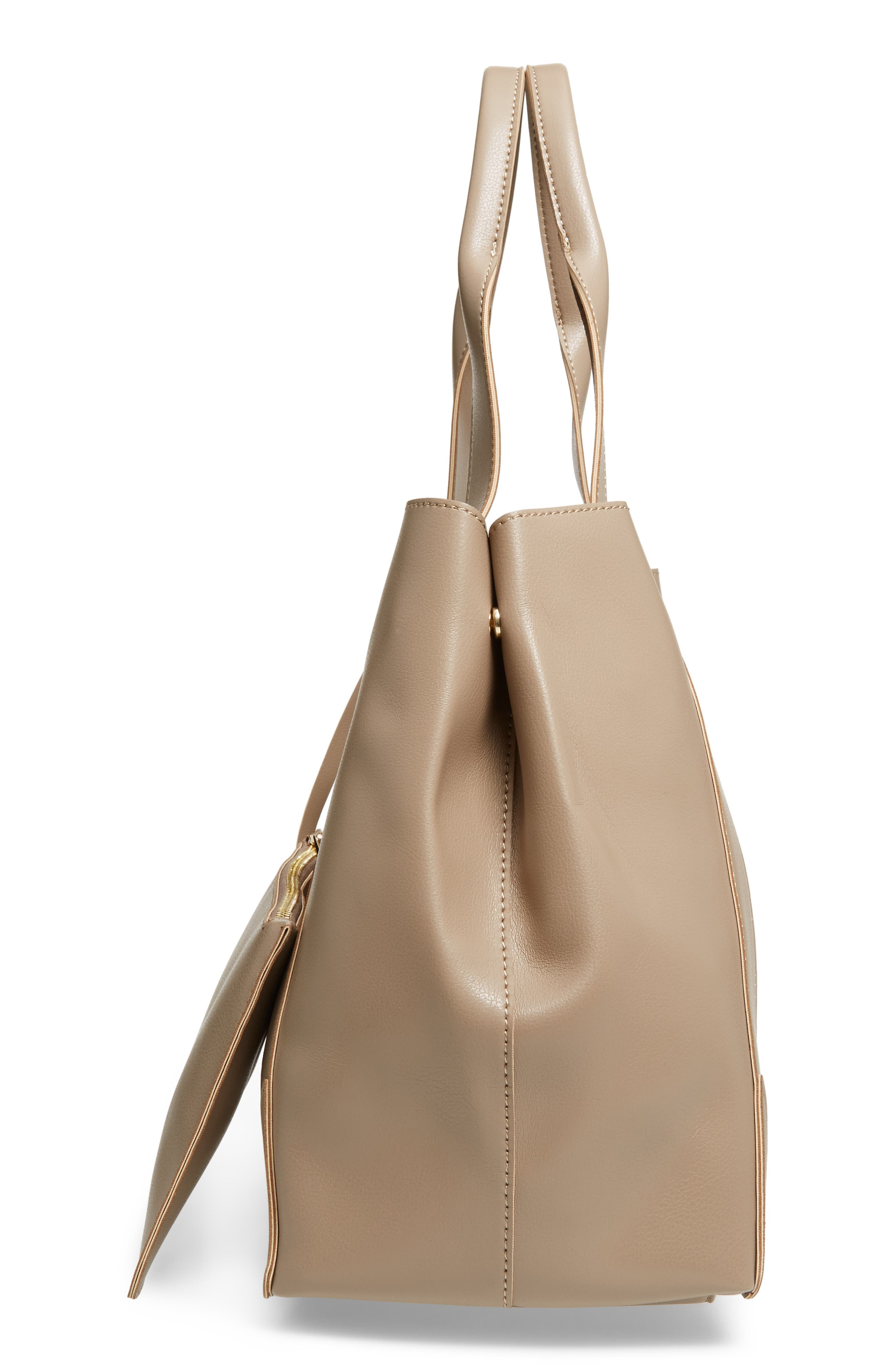 Decklan Faux Leather Tote,                             Alternate thumbnail 5, color,                             250