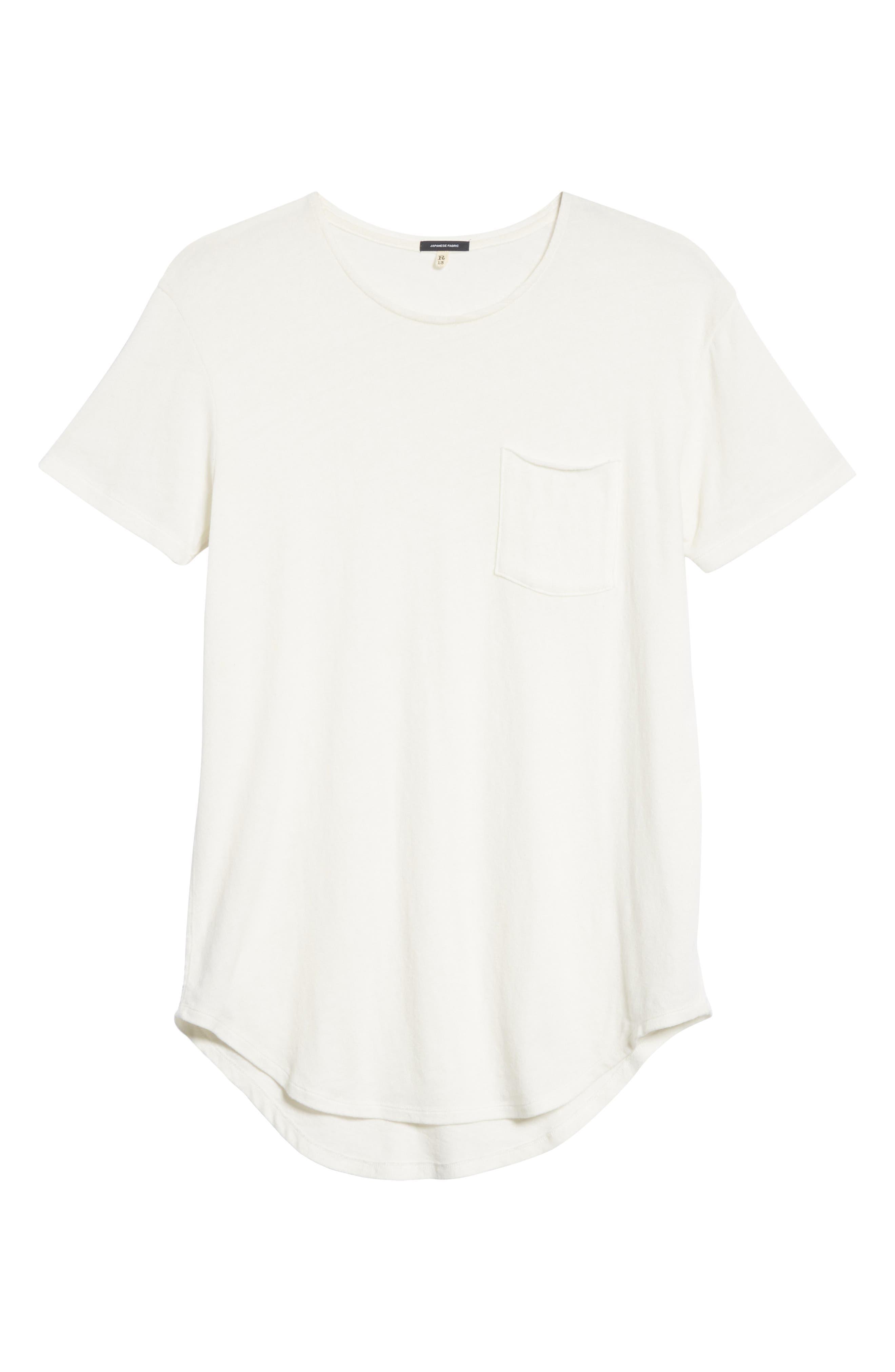 Pocket T-Shirt,                             Alternate thumbnail 6, color,                             WHITE