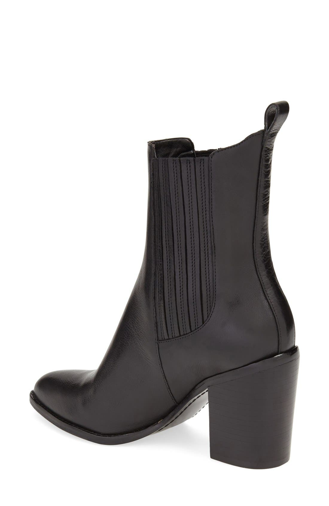 'Alisa' Pointy Toe Chelsea Boot,                             Alternate thumbnail 4, color,                             001