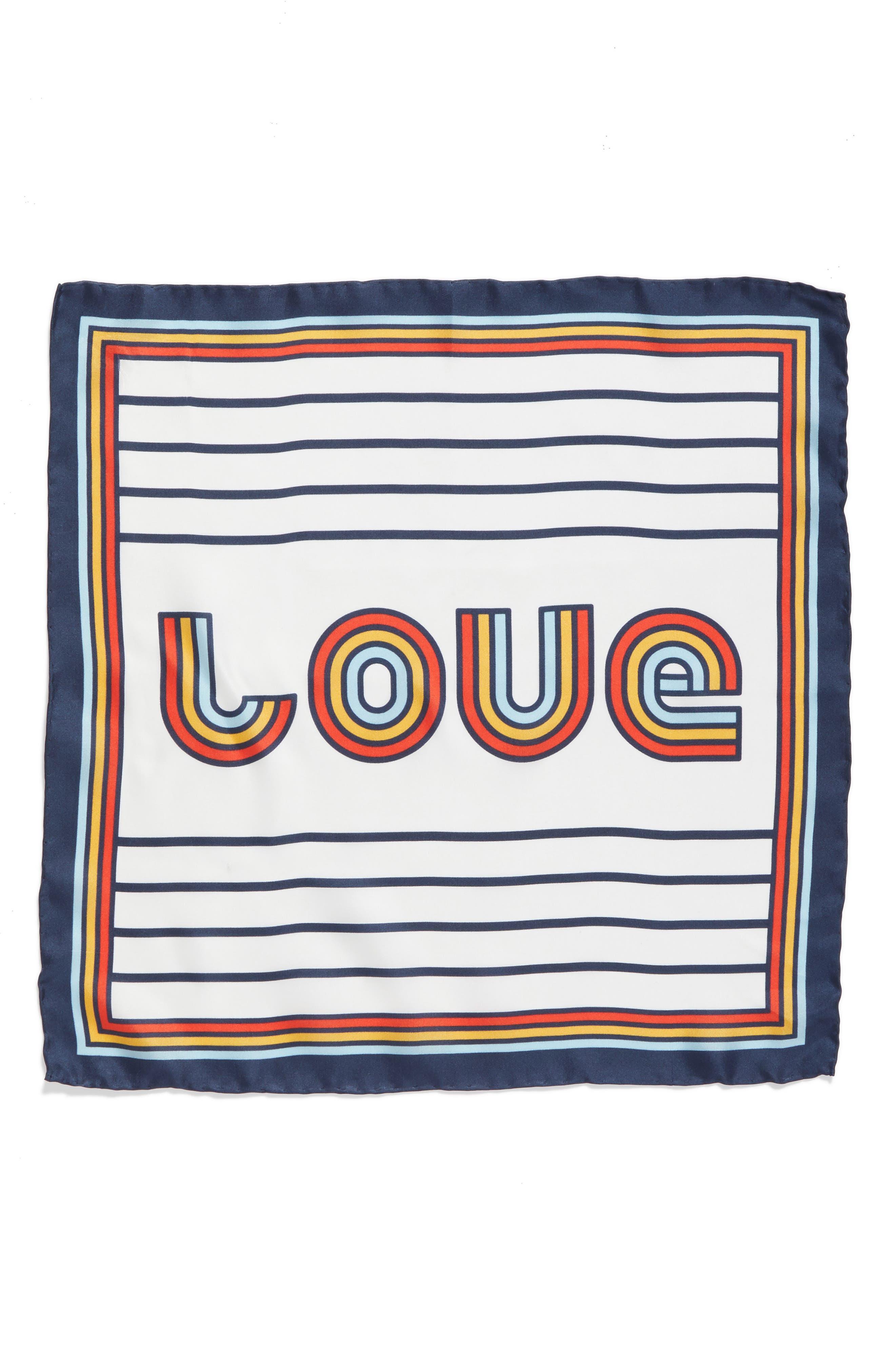 Love Square Silk Square,                             Alternate thumbnail 2, color,                             100