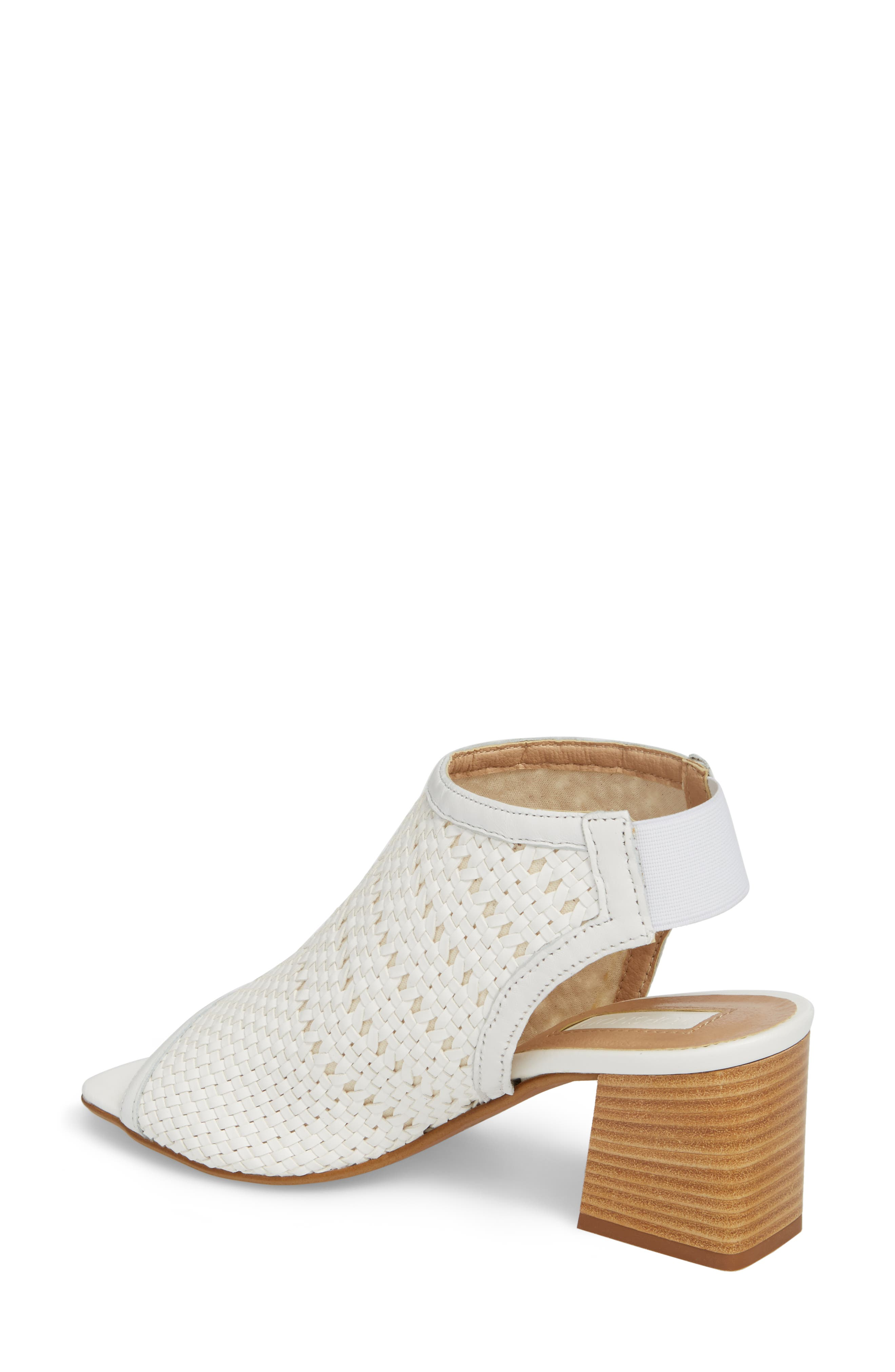 Nifty Woven Flared Heel Sandal,                             Alternate thumbnail 4, color,