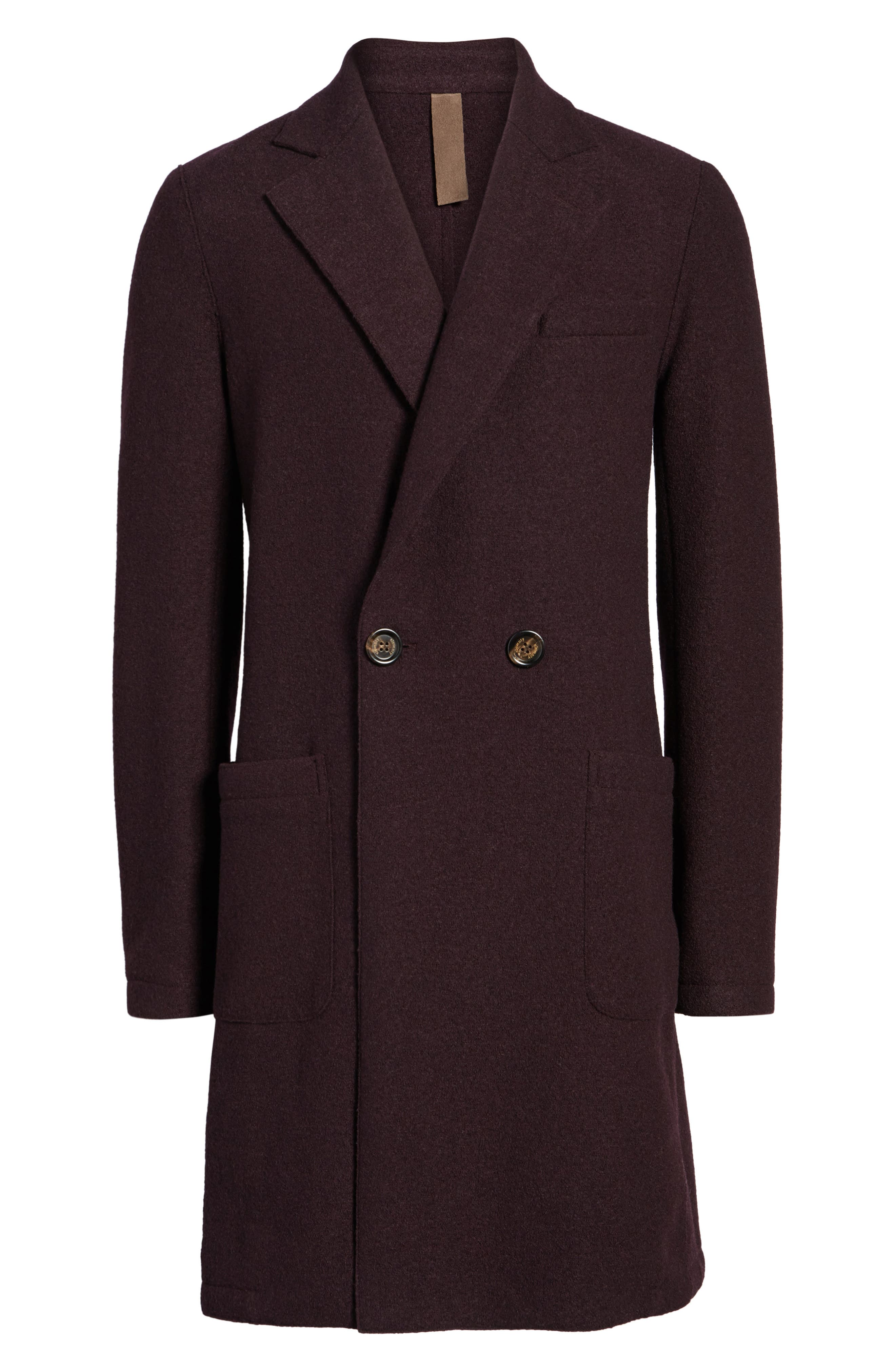 Boiled Wool Double Breasted Topcoat,                             Alternate thumbnail 5, color,                             930