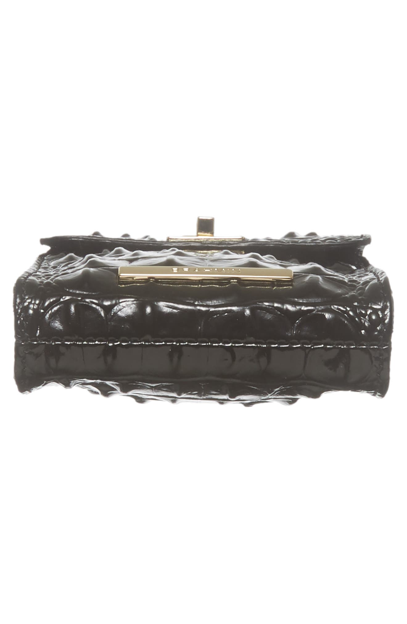 Madison Leather Smartphone Crossbody Bag,                             Alternate thumbnail 6, color,                             BLACK