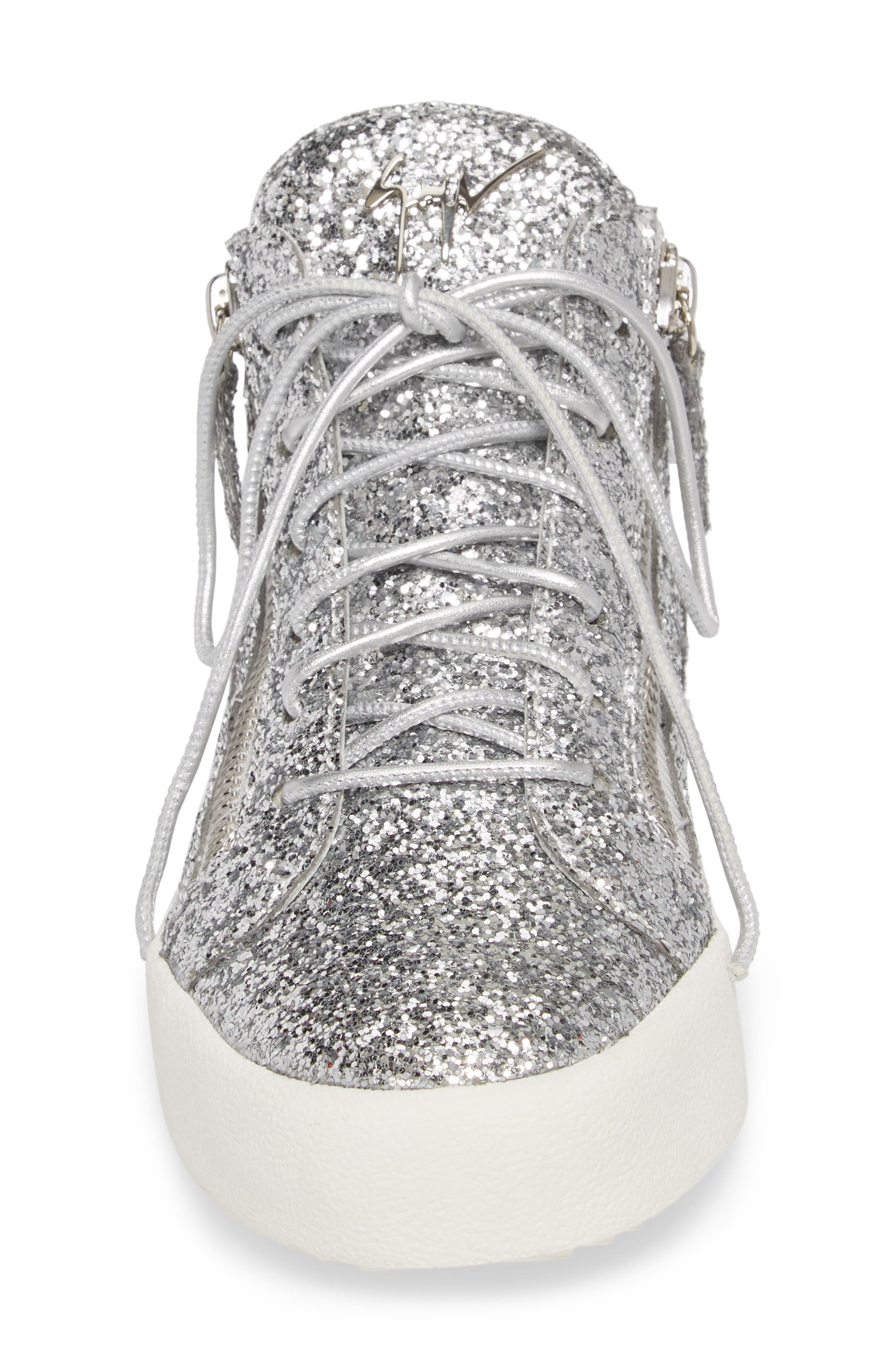 May London High Top Sneaker,                             Alternate thumbnail 4, color,                             SILVER