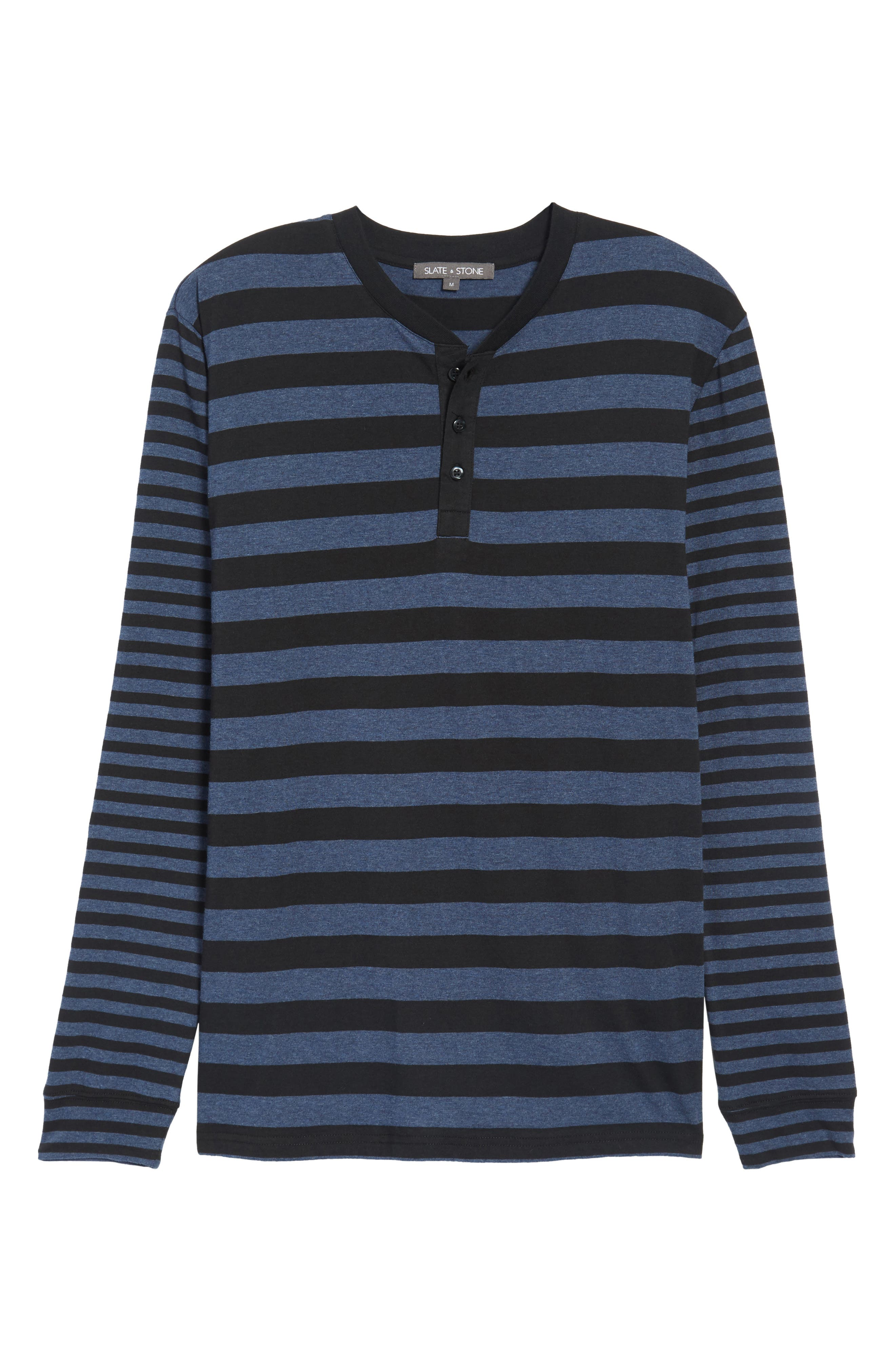 Striped Long Sleeve Henley T-Shirt,                             Alternate thumbnail 6, color,