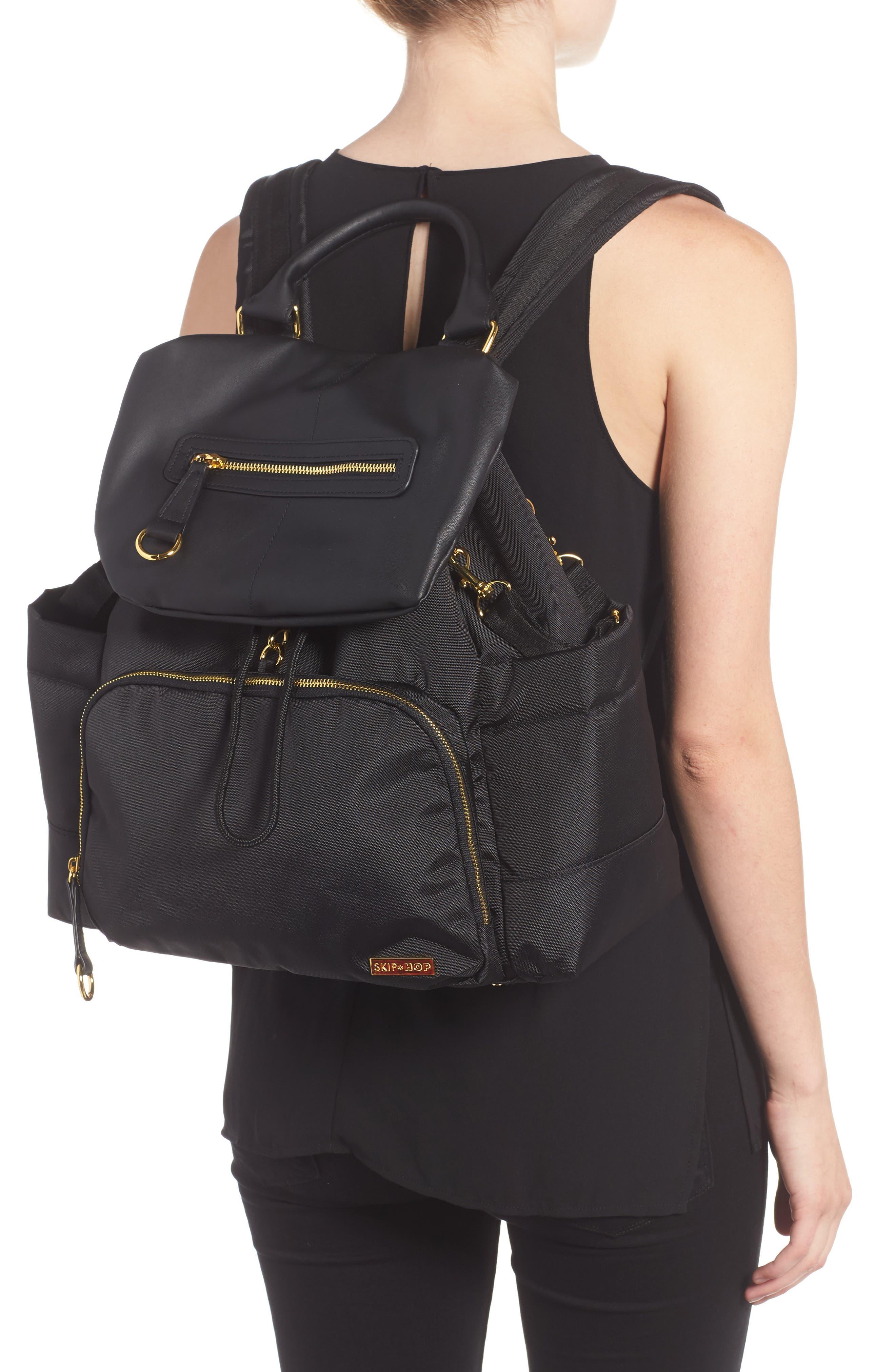 'Chelsea' Diaper Bag Backpack,                             Alternate thumbnail 2, color,                             BLACK