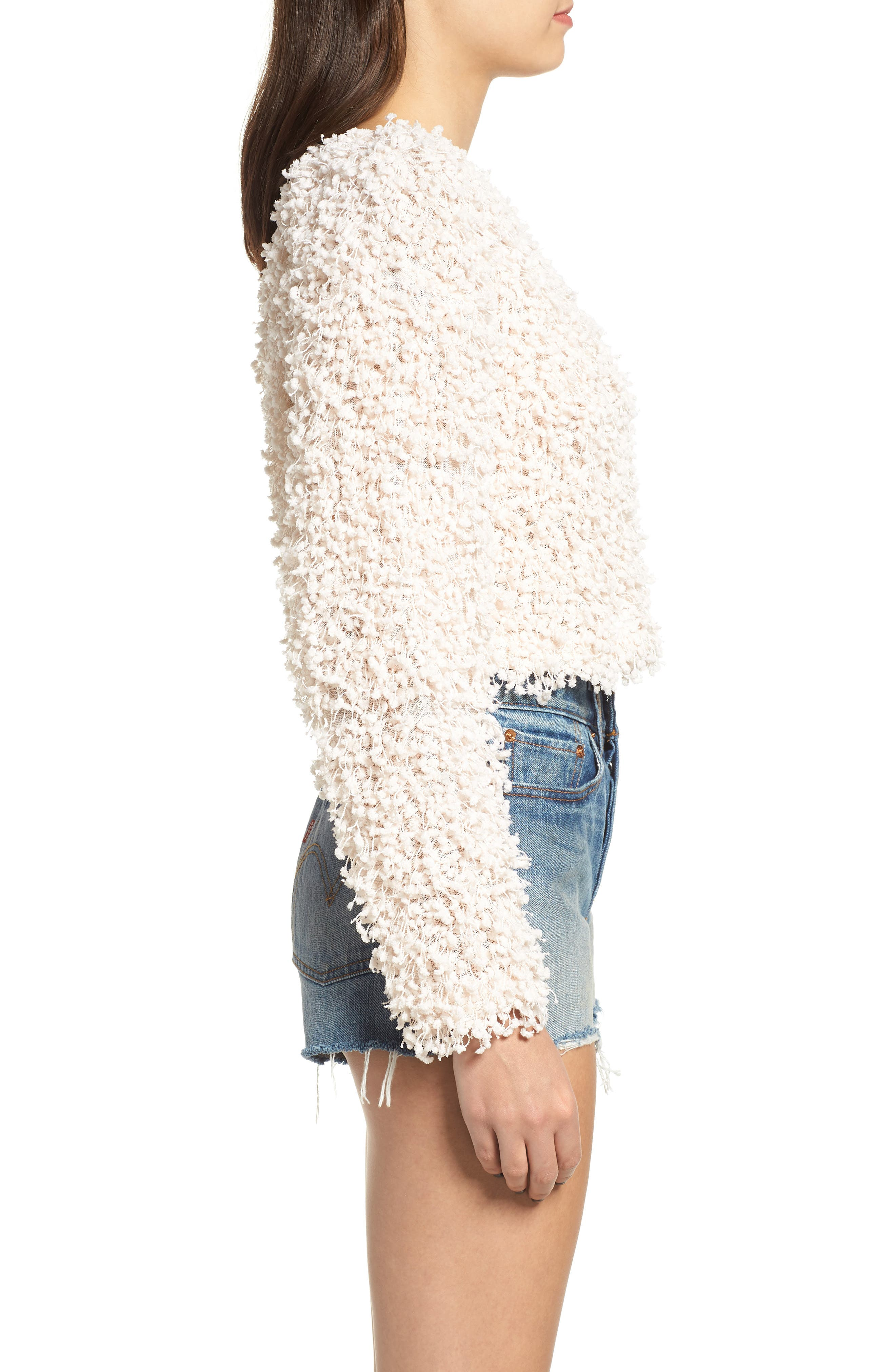 Glorious Crop Sweater,                             Alternate thumbnail 3, color,                             CREAM