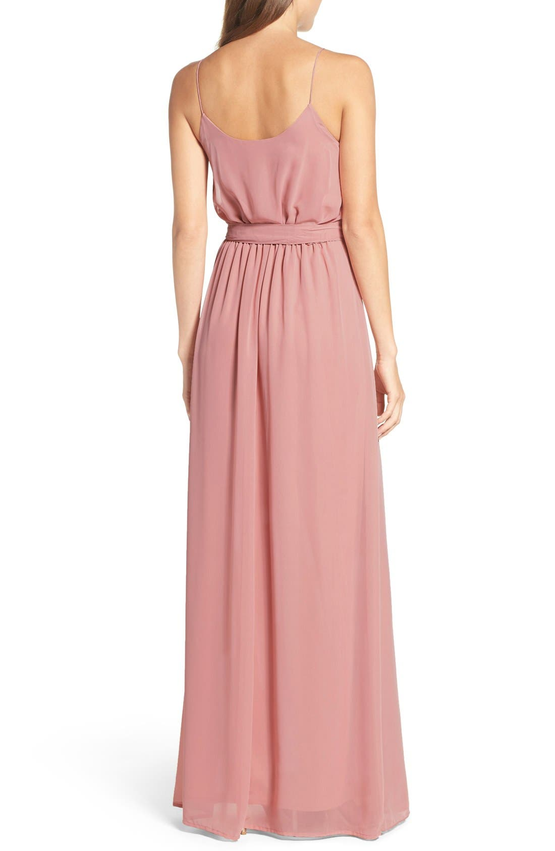 'Drew' Ruffle Front Chiffon Gown,                             Alternate thumbnail 26, color,