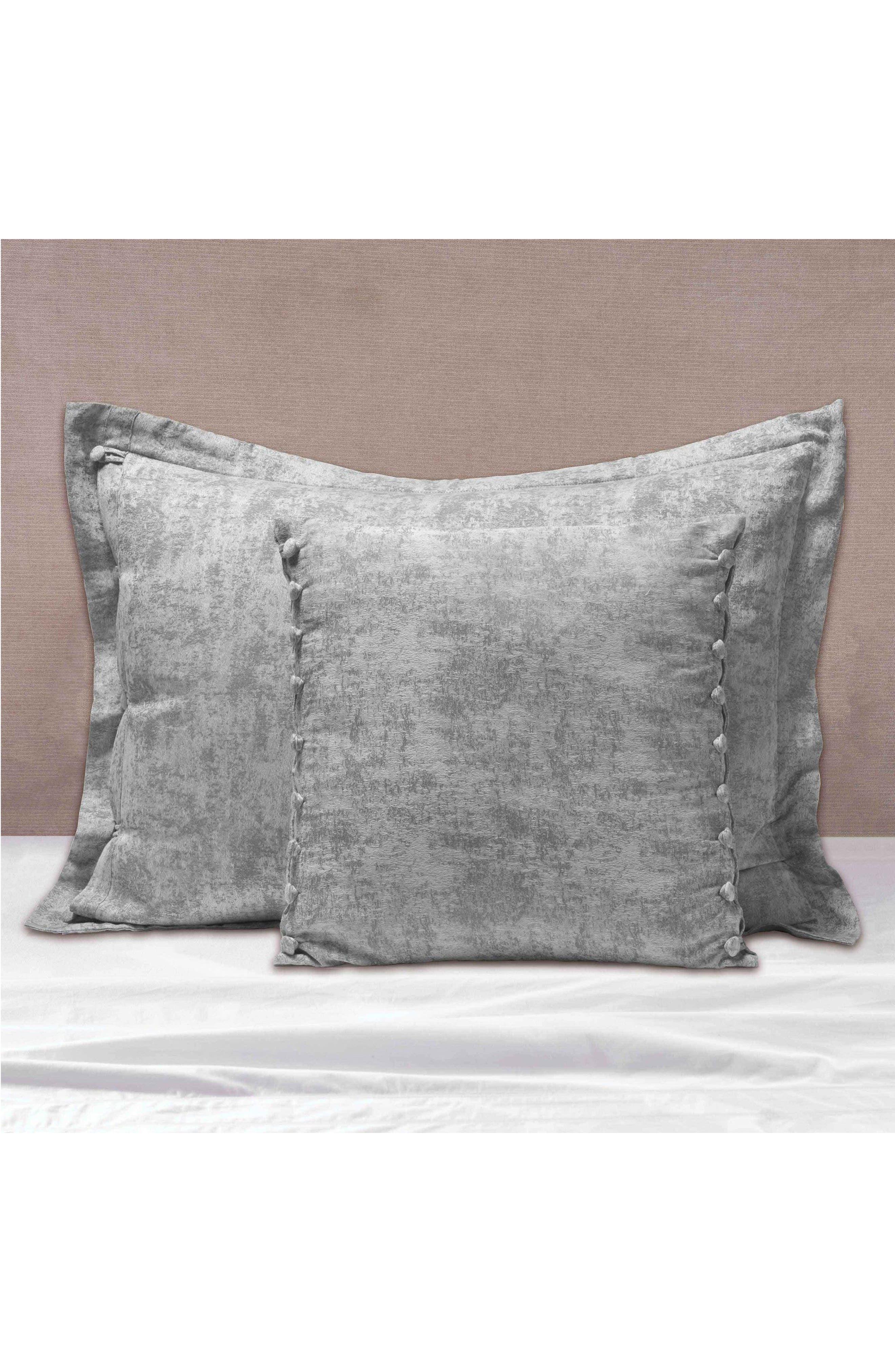 The Flaneur Organic Cotton Jacquard Sham,                             Alternate thumbnail 3, color,                             020