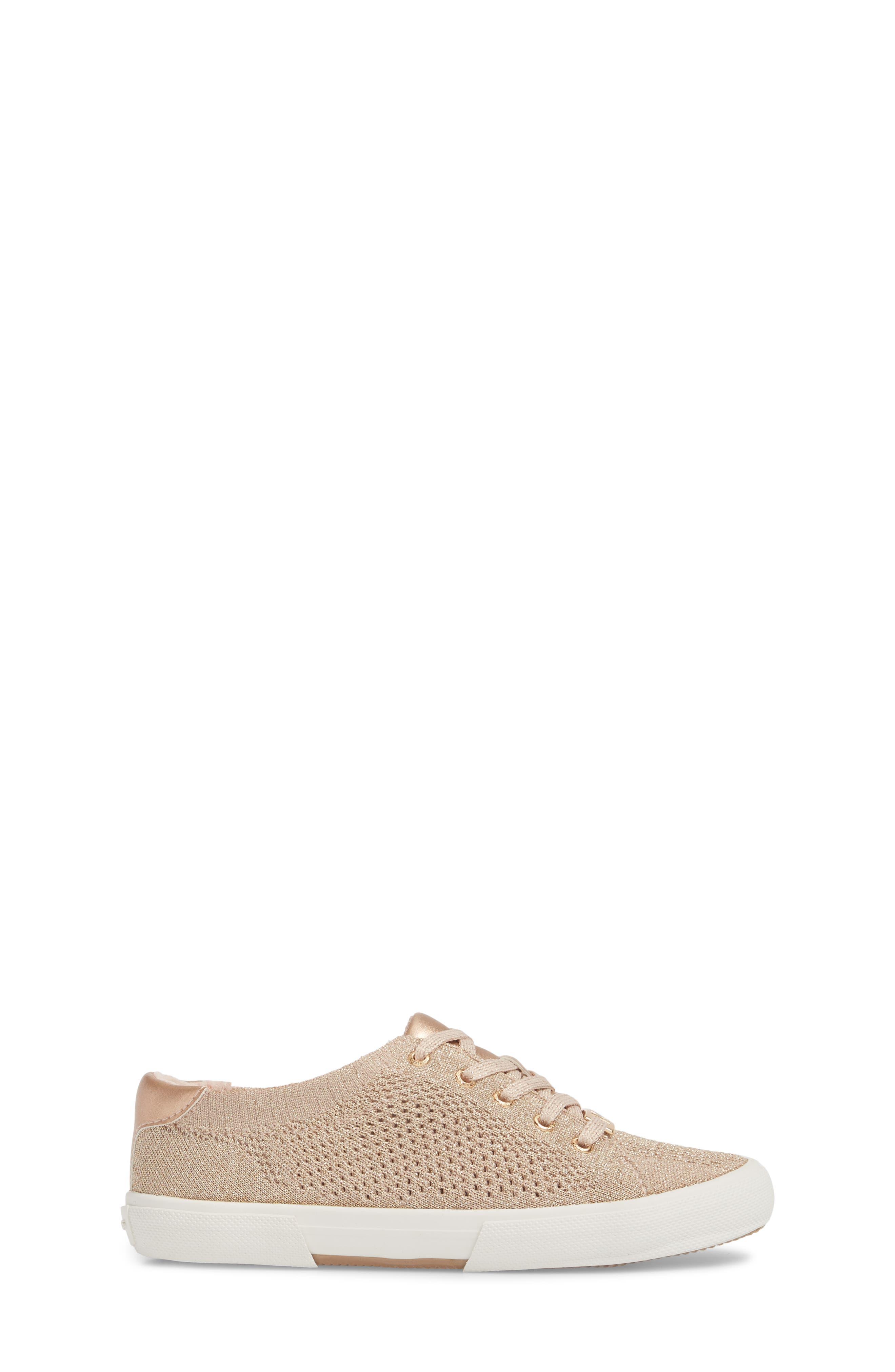 Ima Metallic Knit Sneaker,                             Alternate thumbnail 3, color,                             BLUSH SHIMMER