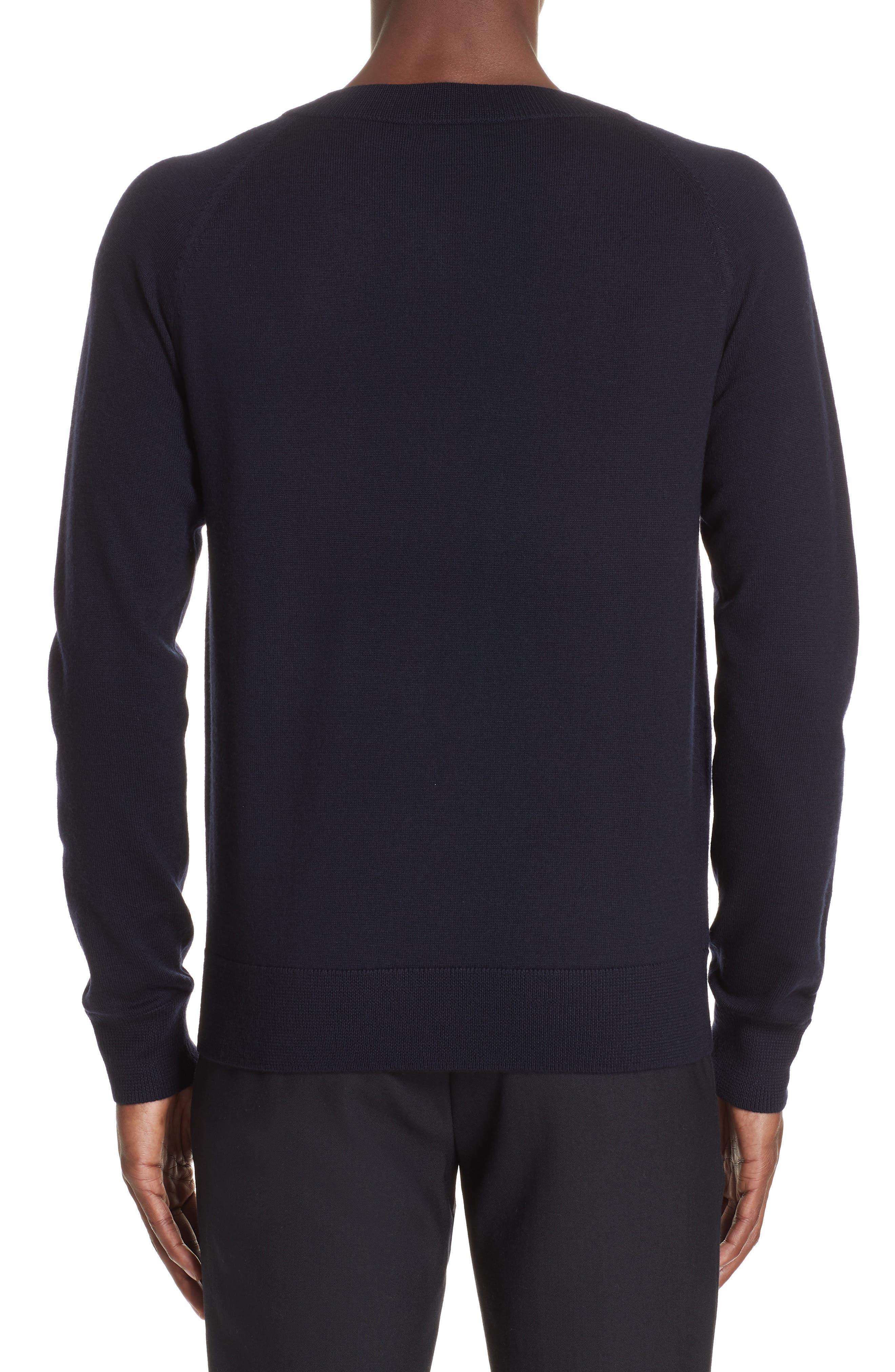 Mimic Raglan Sweater,                             Alternate thumbnail 2, color,                             NAVY