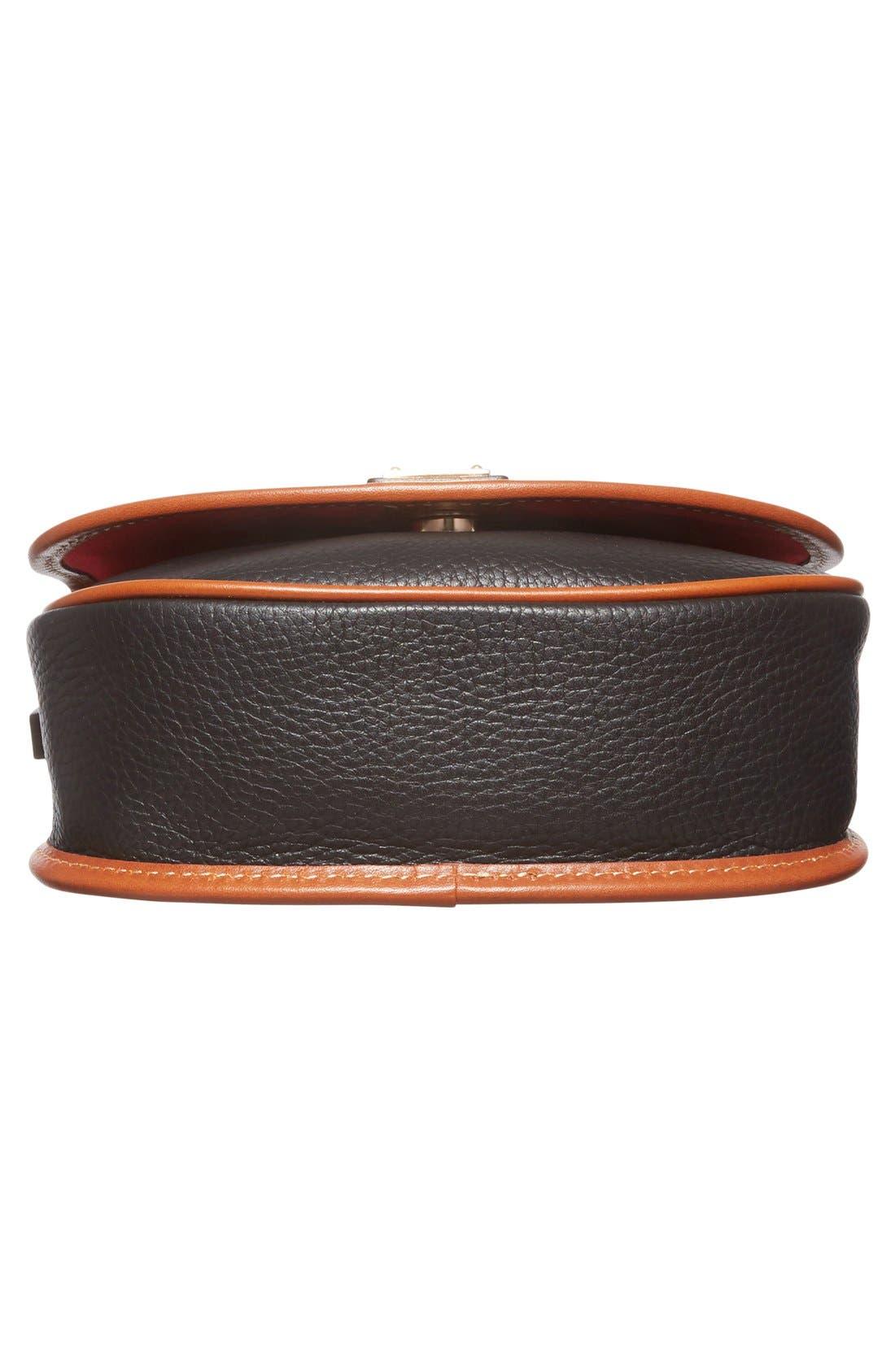 'Hallie' Leather Crossbody Bag,                             Alternate thumbnail 2, color,                             001