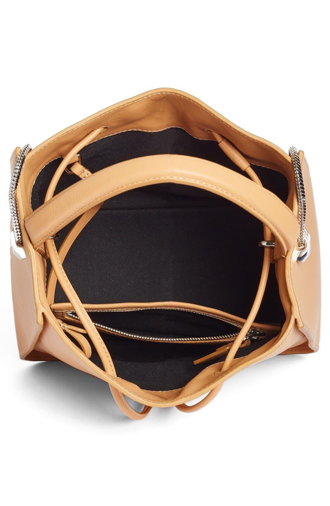 Mini Soleil Leather Bucket Bag,                             Alternate thumbnail 3, color,                             249