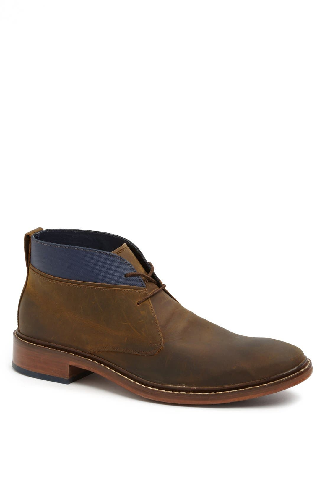 'Colton' Chukka Boot,                             Main thumbnail 1, color,                             COPPER/ PEACOAT LEATHER