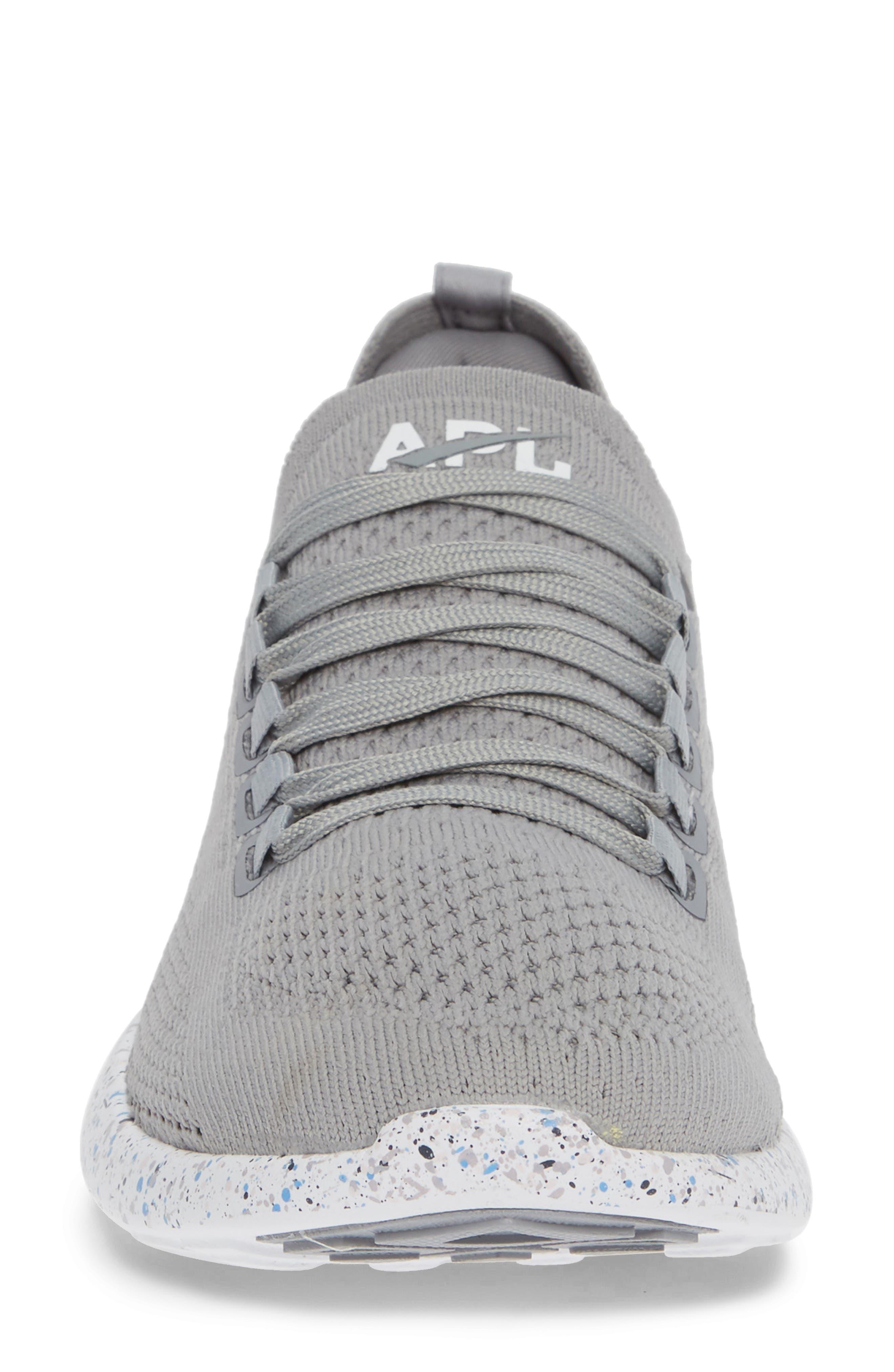 APL,                             Techloom Breeze Knit Running Shoe,                             Alternate thumbnail 4, color,                             CEMENT/ MULTI SPECKLE