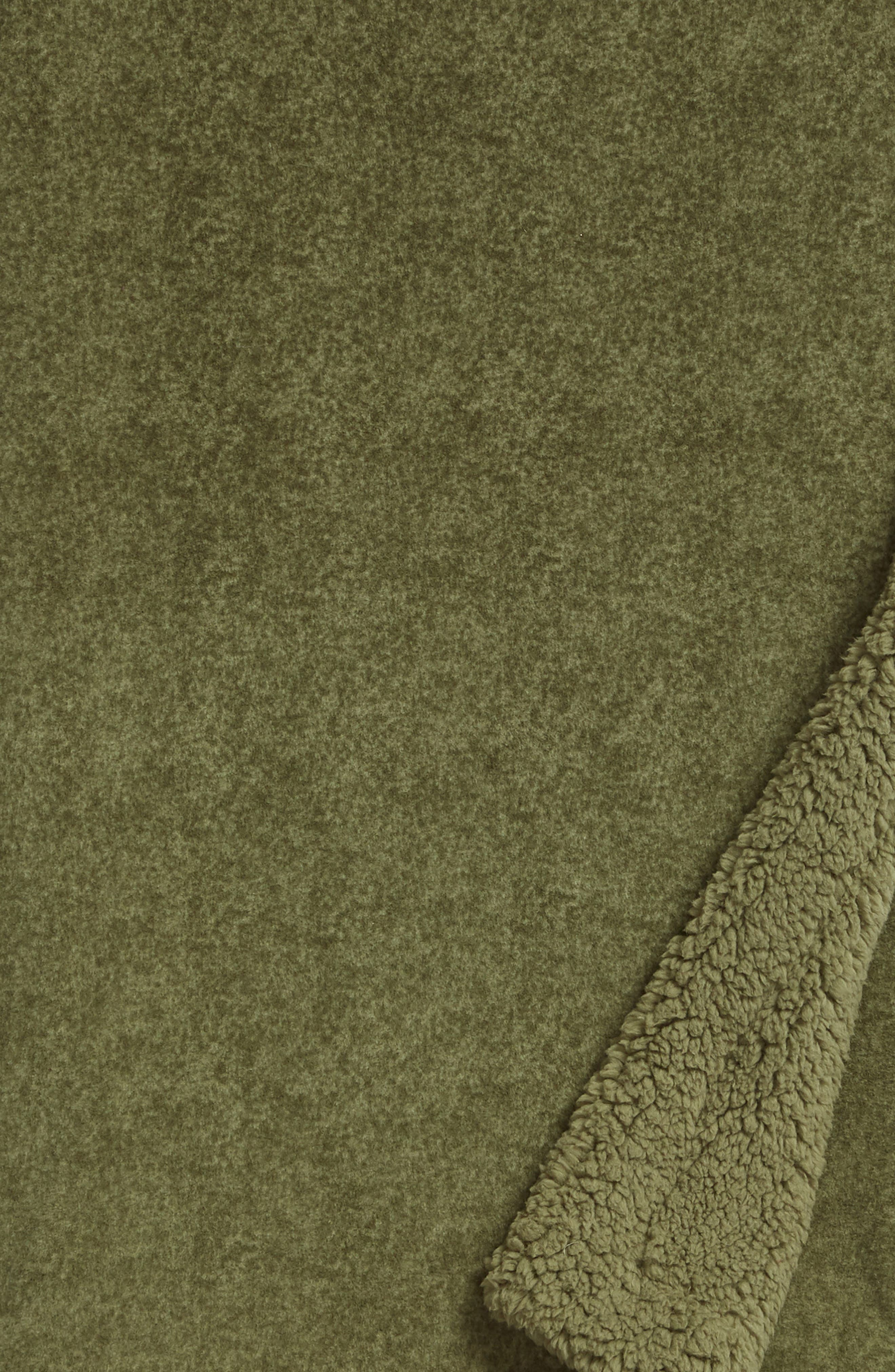 Fleece Throw,                             Alternate thumbnail 2, color,                             GREEN SORREL
