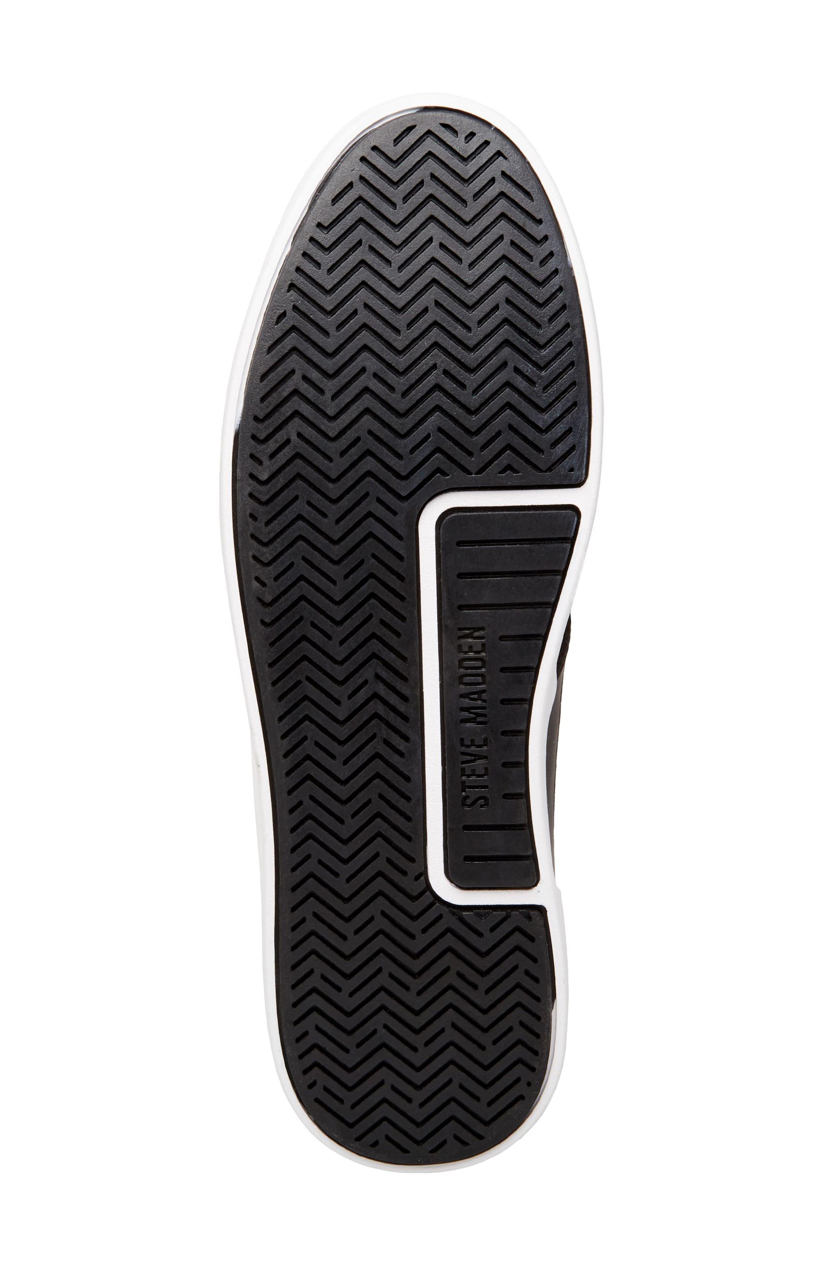 Franklyn Chukka Sneaker,                             Alternate thumbnail 6, color,                             BLACK FABRIC