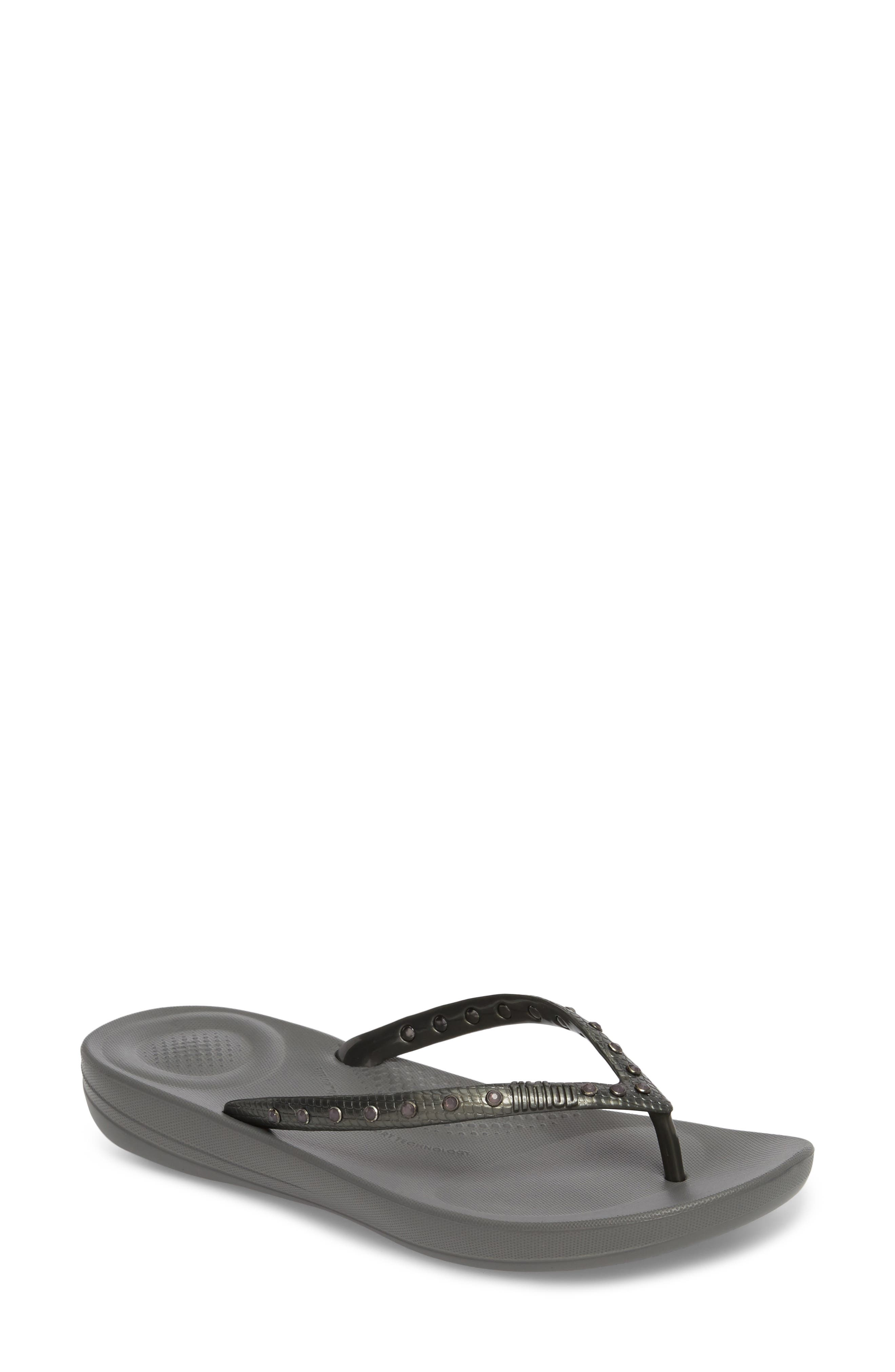iQushion Flip Flop,                         Main,                         color, CHARCOAL GREY