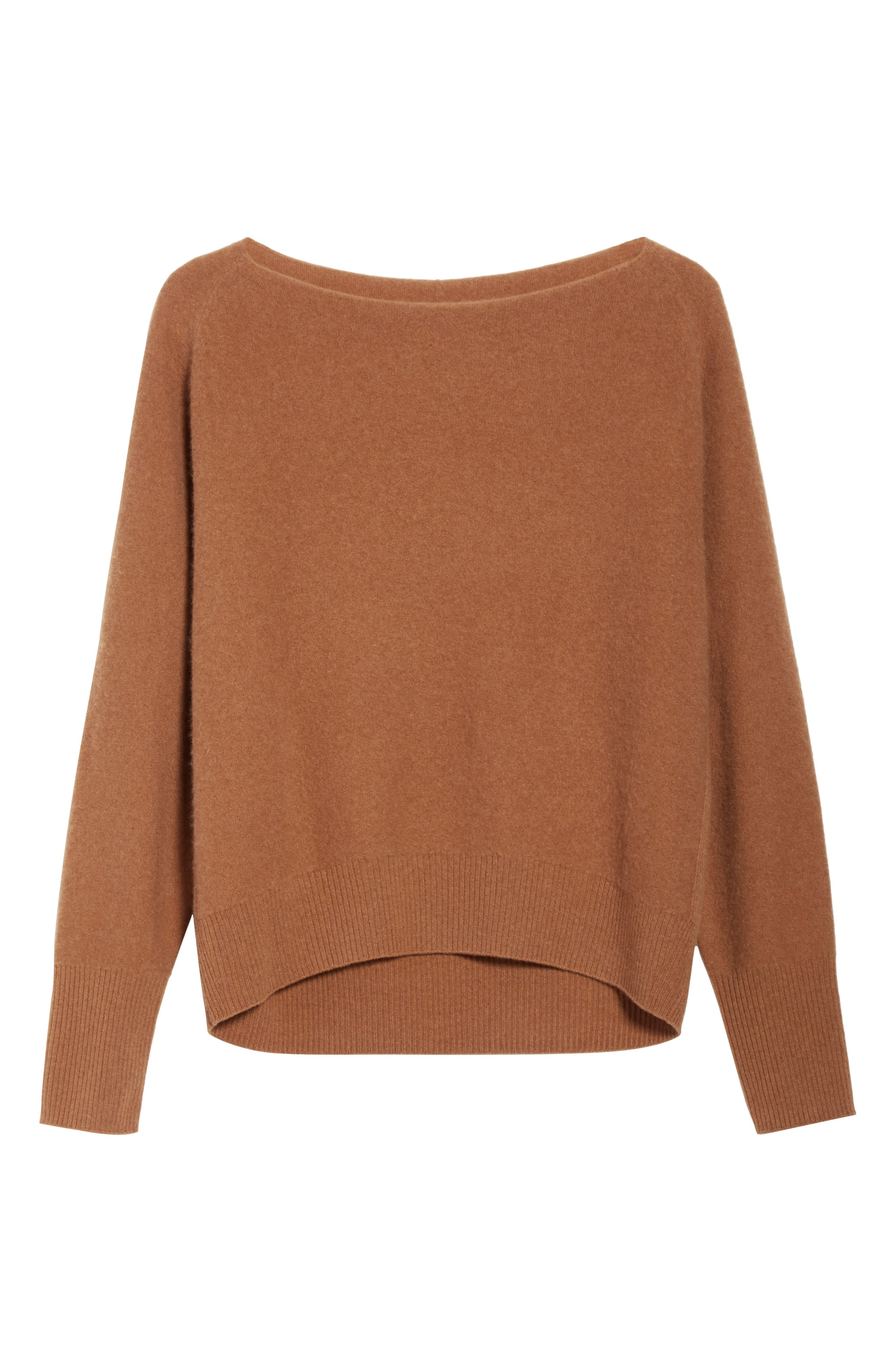 Boat Neck Cashmere Pullover,                             Alternate thumbnail 6, color,                             850