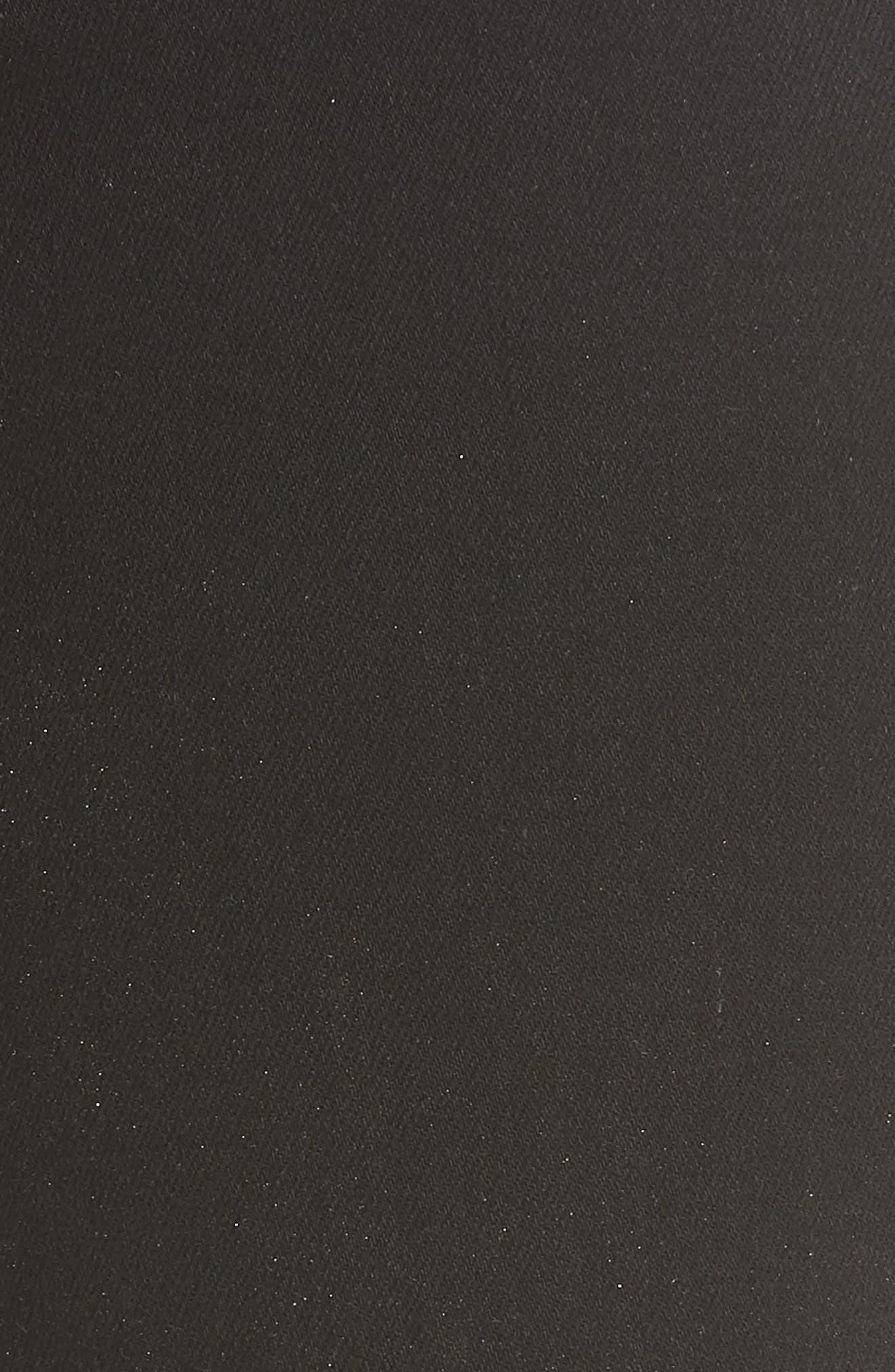 L'AGENCE,                             Margot Embellished Side Stripe Crop Skinny Jeans,                             Alternate thumbnail 5, color,                             NOIR