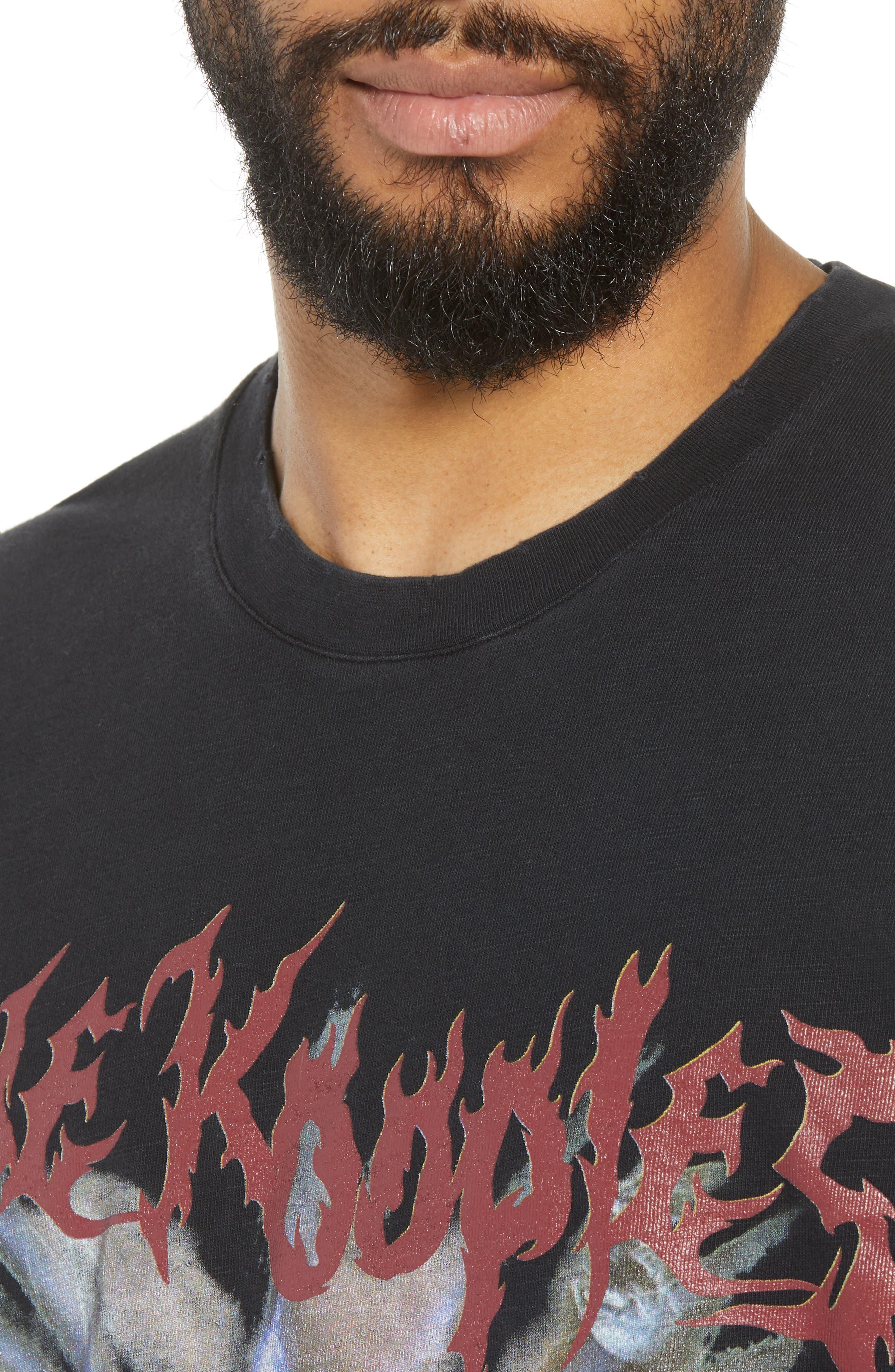 Slubbed Graphic T-Shirt,                             Alternate thumbnail 4, color,                             BLACK