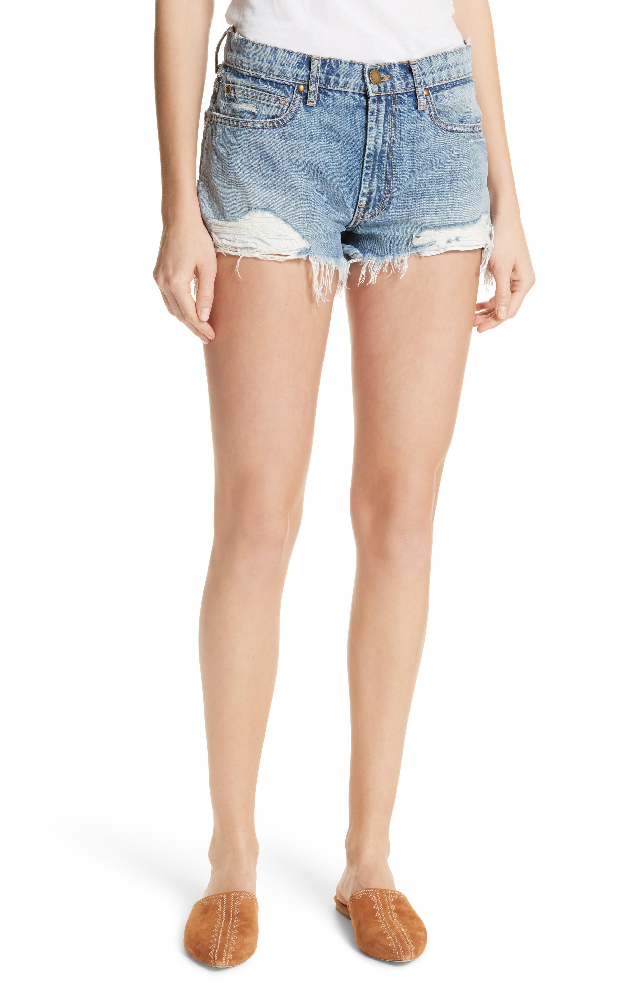 The Destroy Cutoff Denim Shorts,                         Main,                         color, 400