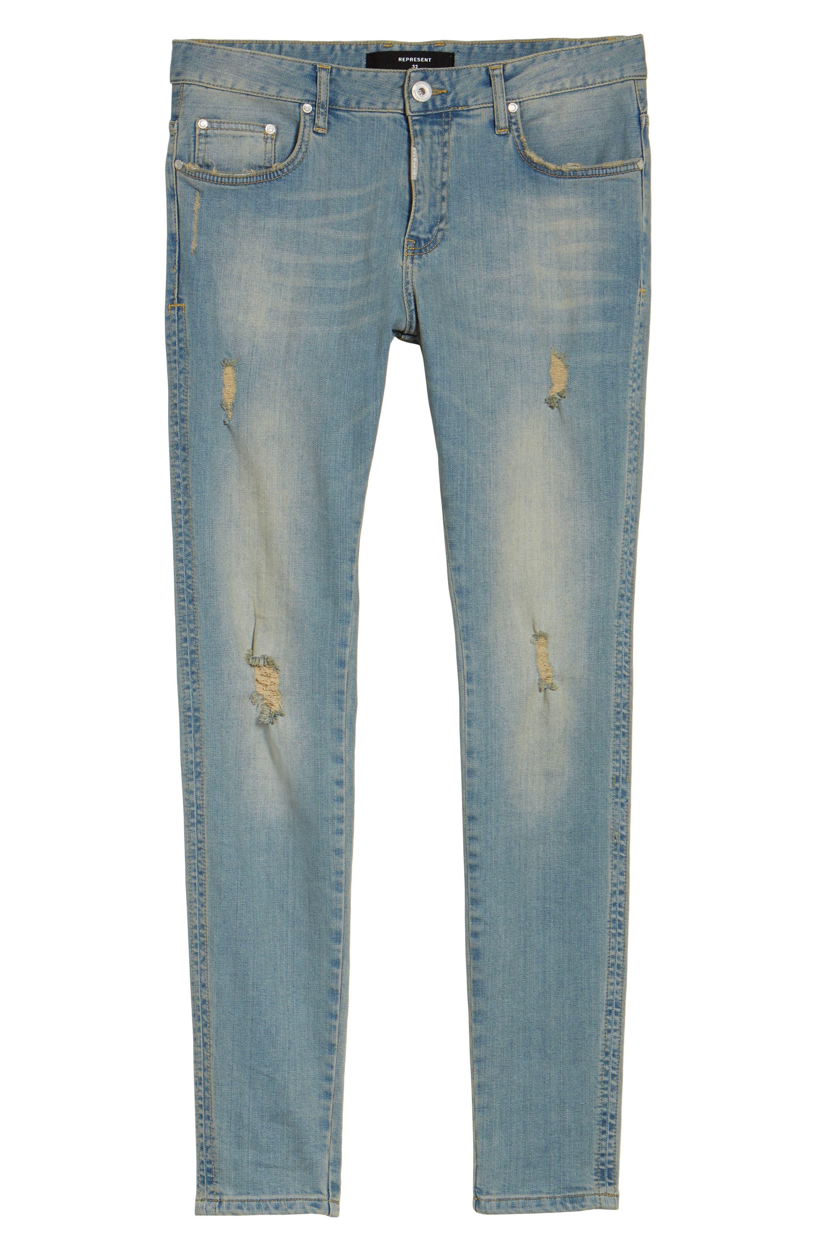 Slim Fit Distressed Jeans,                             Alternate thumbnail 12, color,