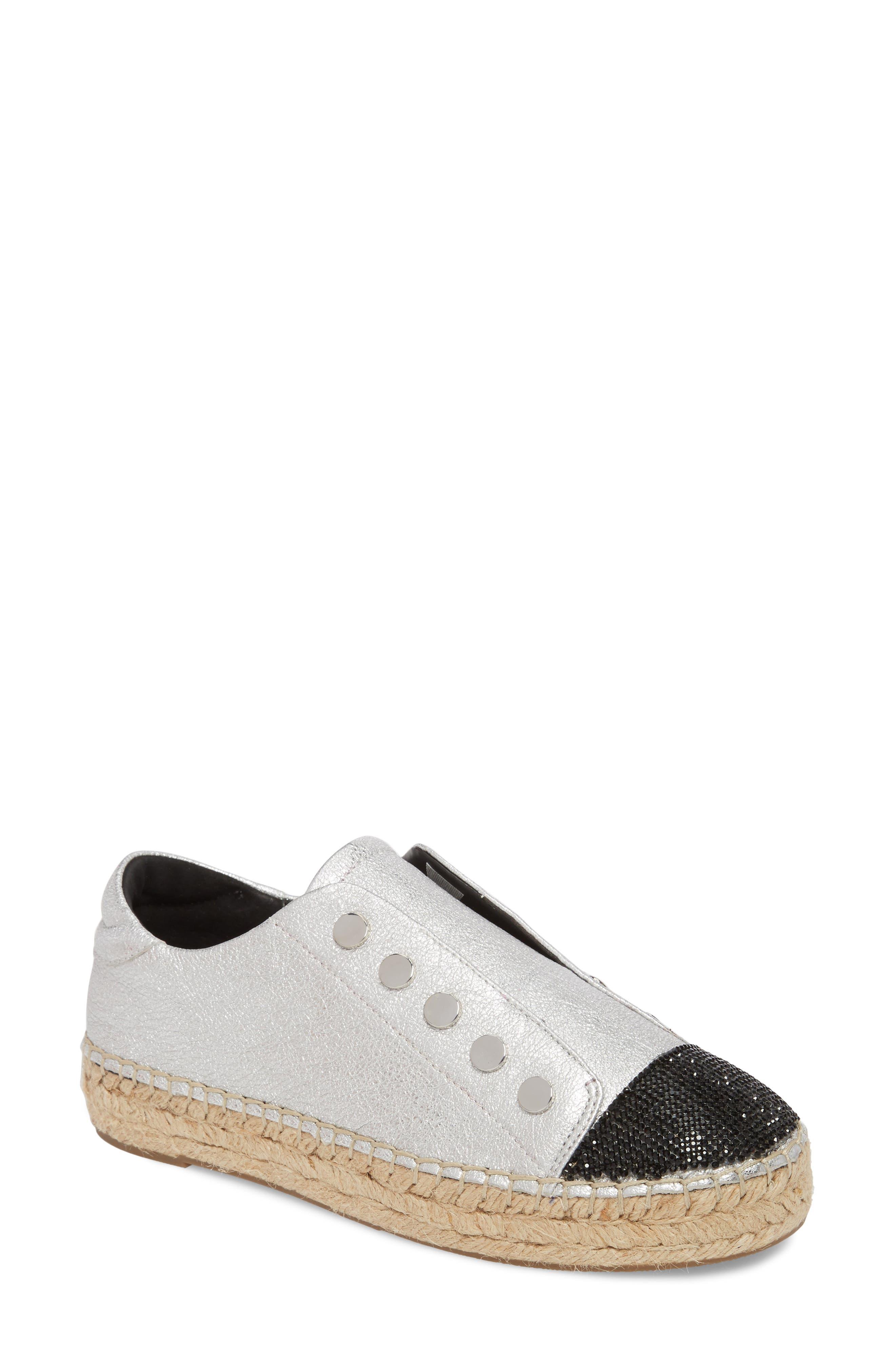 Juniper Espadrille Sneaker,                         Main,                         color, SILVER