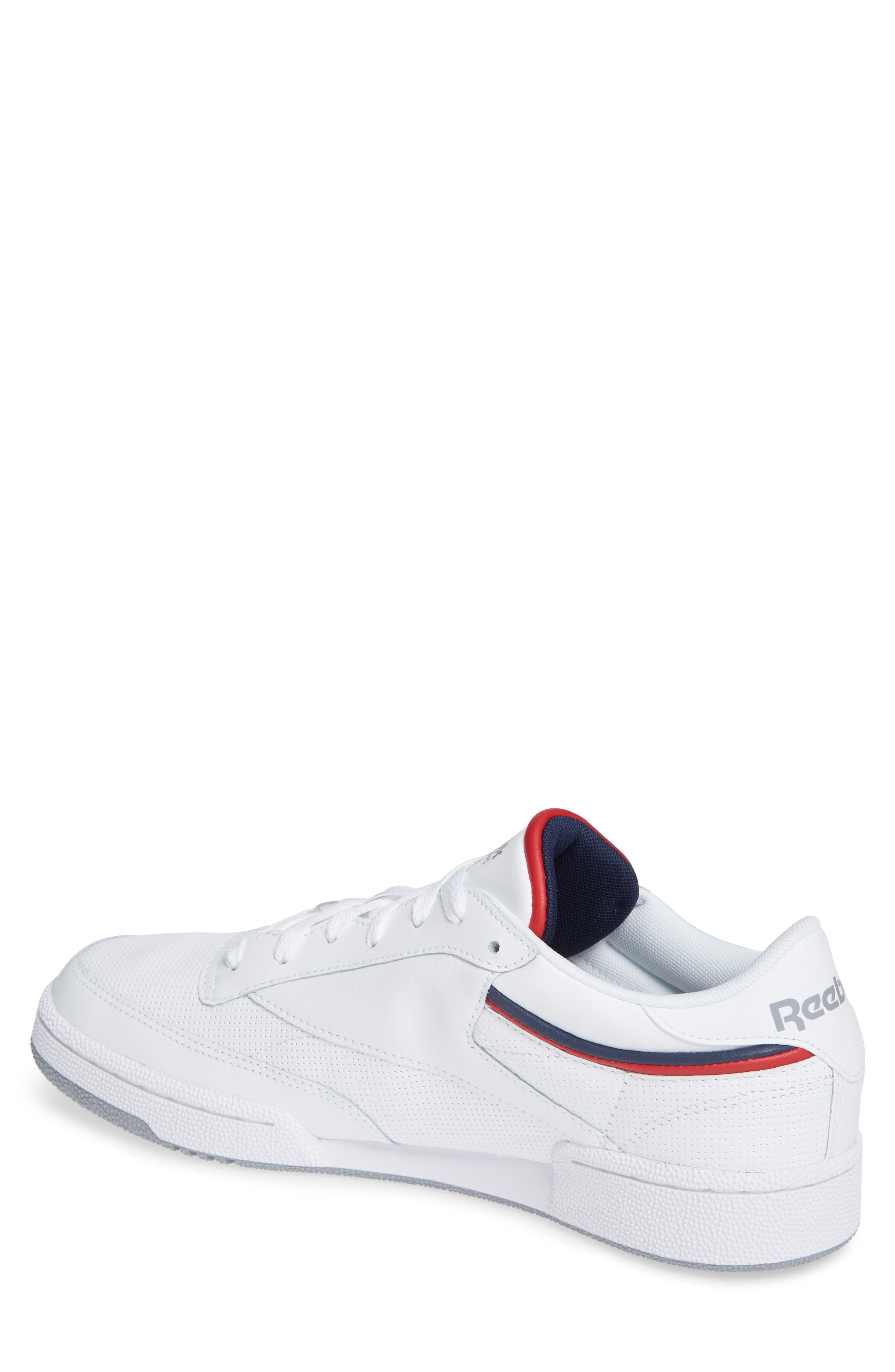 Club C 85 Sneaker,                             Alternate thumbnail 2, color,                             WHITE/ COLLEGIATE NAVY/ RED