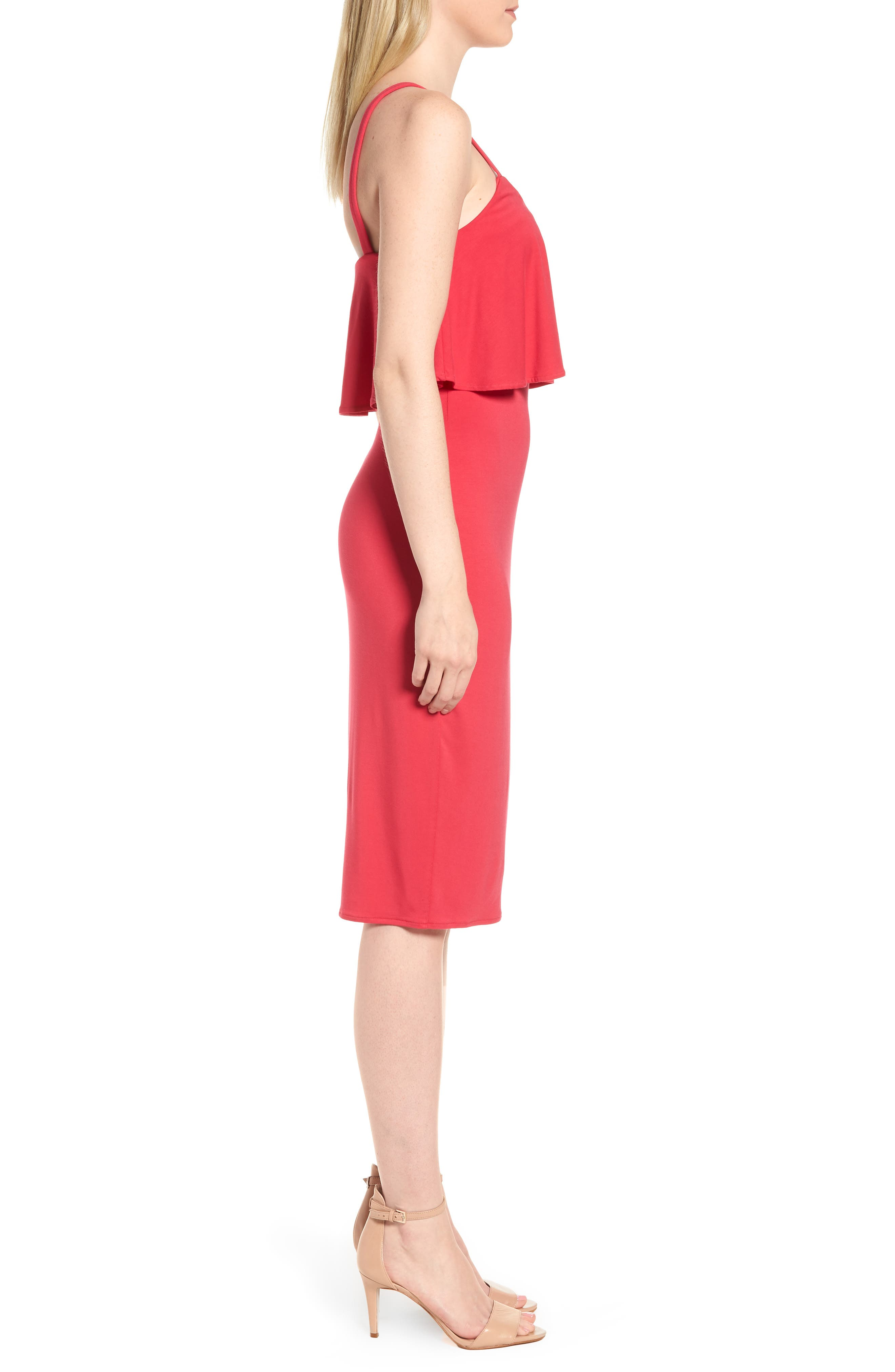 Flounce Front Dress,                             Alternate thumbnail 7, color,