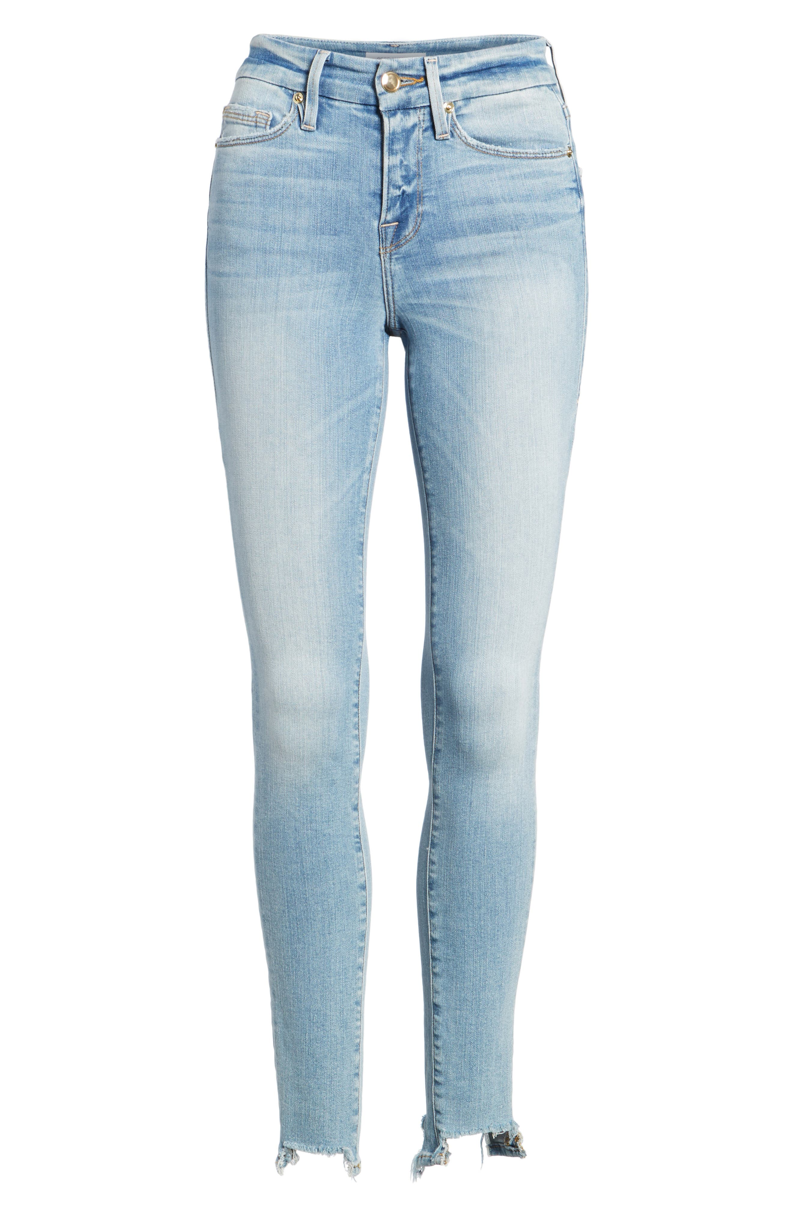 Good Legs High Waist Ankle Skinny Jeans,                             Alternate thumbnail 7, color,