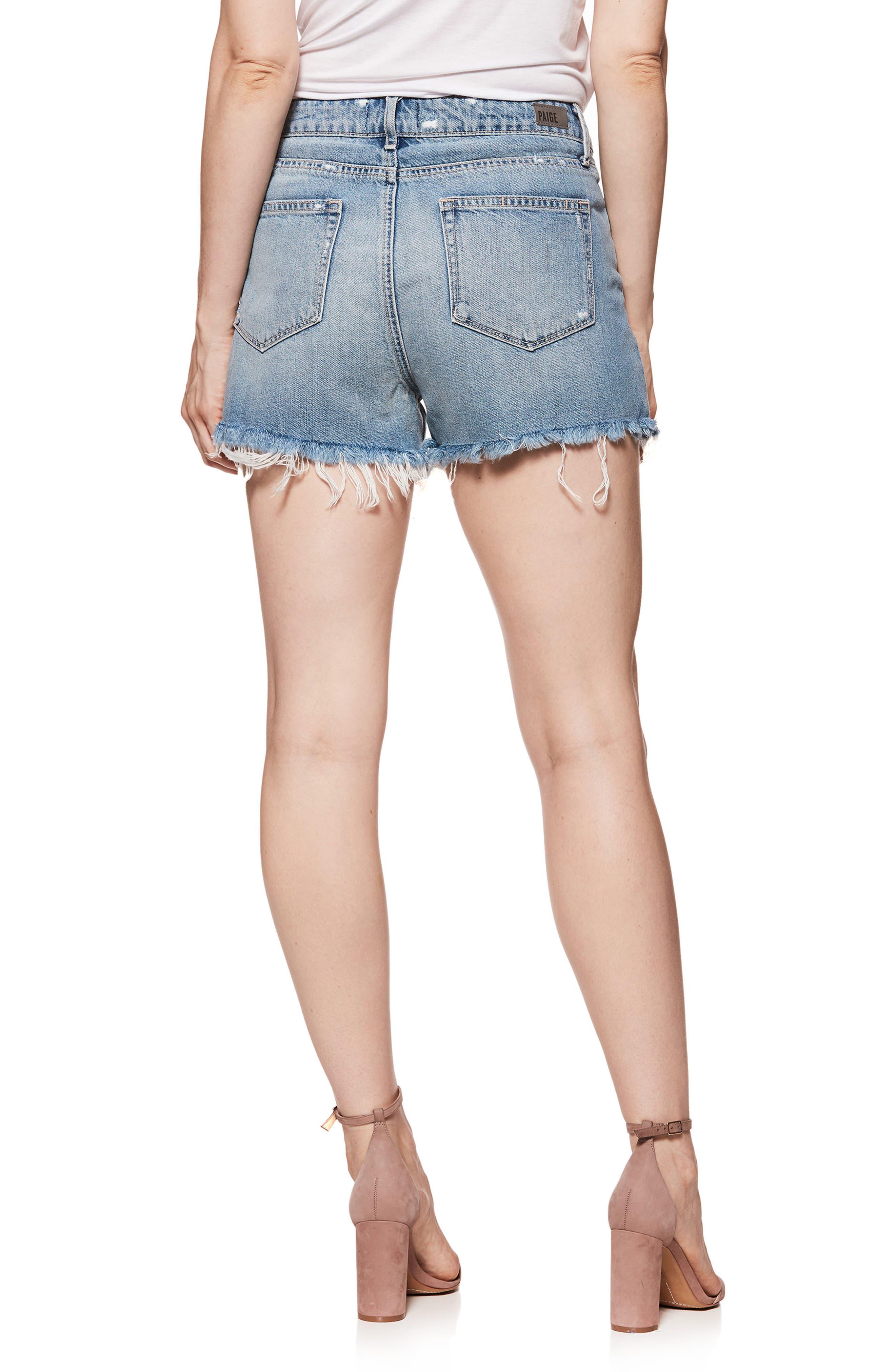 Babes Distressed Cutoff Denim Shorts,                             Alternate thumbnail 2, color,                             400