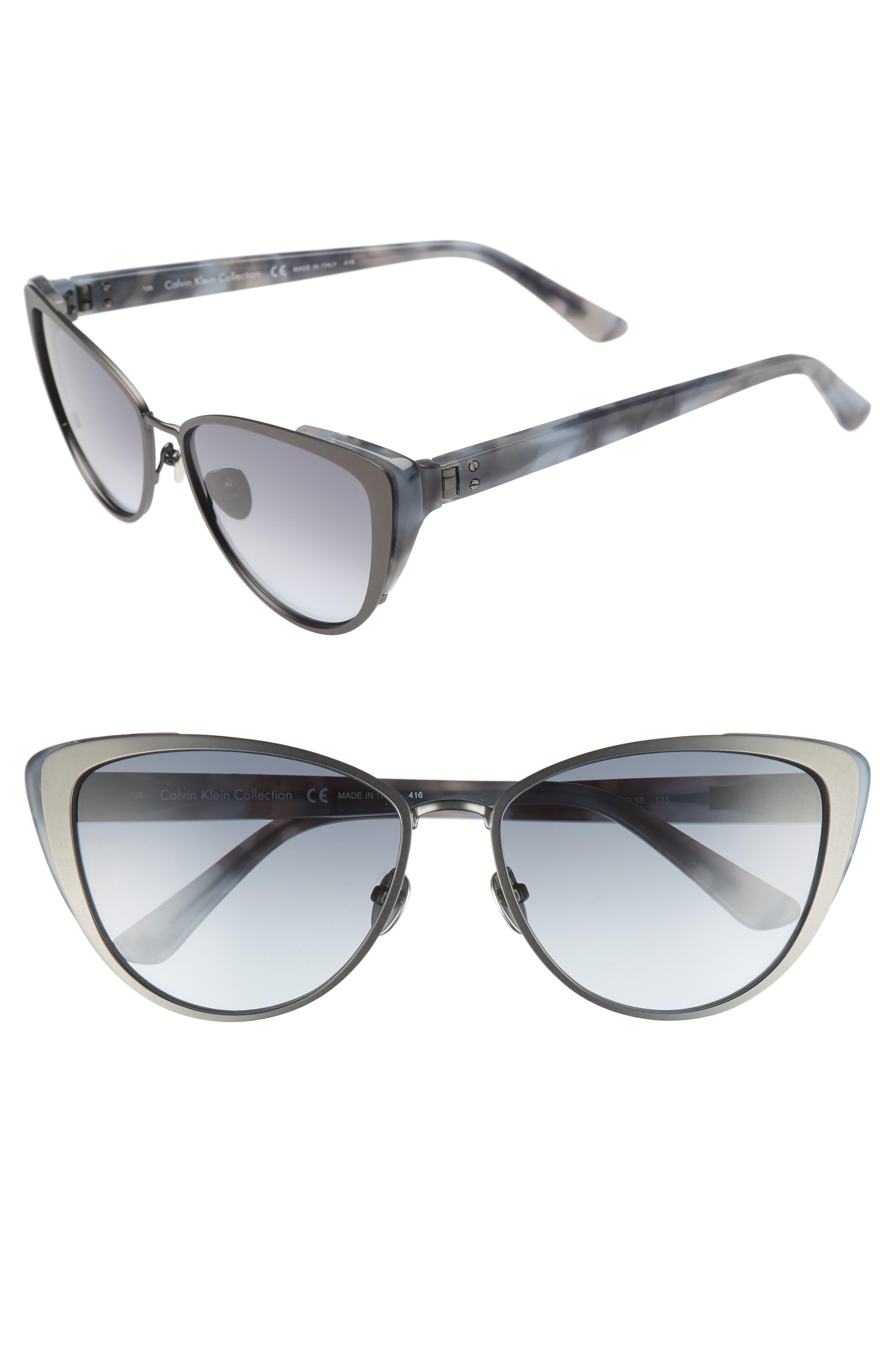57mm Cat Eye Sunglasses,                             Main thumbnail 1, color,                             040