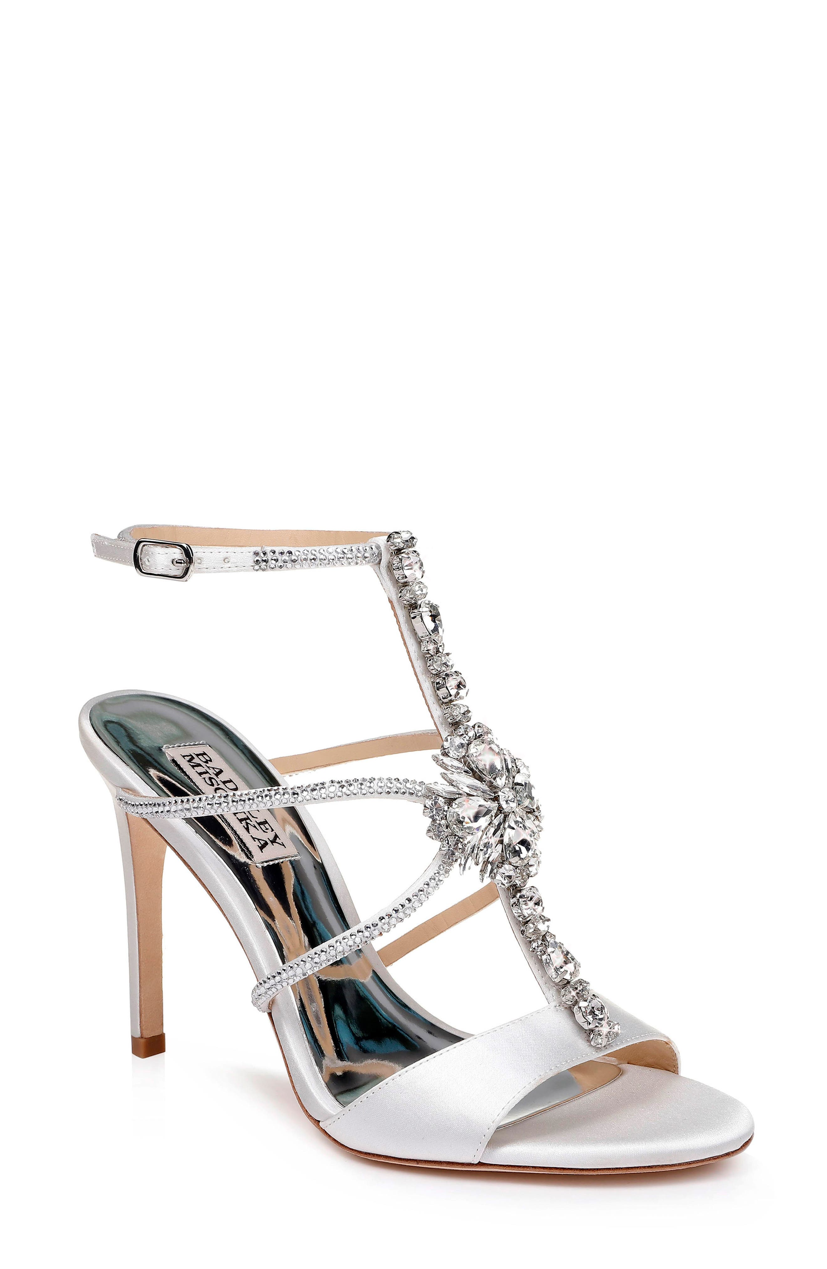 Badgley Mischka Faye Ankle Strap Sandal, White