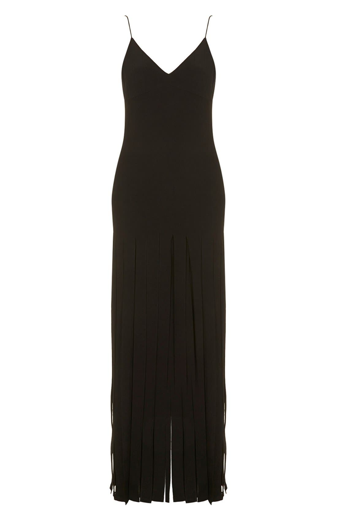 Kate Moss for Topshop Splice Skirt Maxi Dress,                             Alternate thumbnail 10, color,